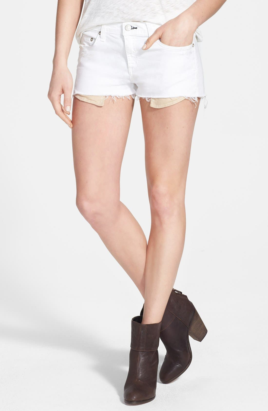 Main Image - rag & bone/JEAN 'The Mila' Denim Cutoff Shorts
