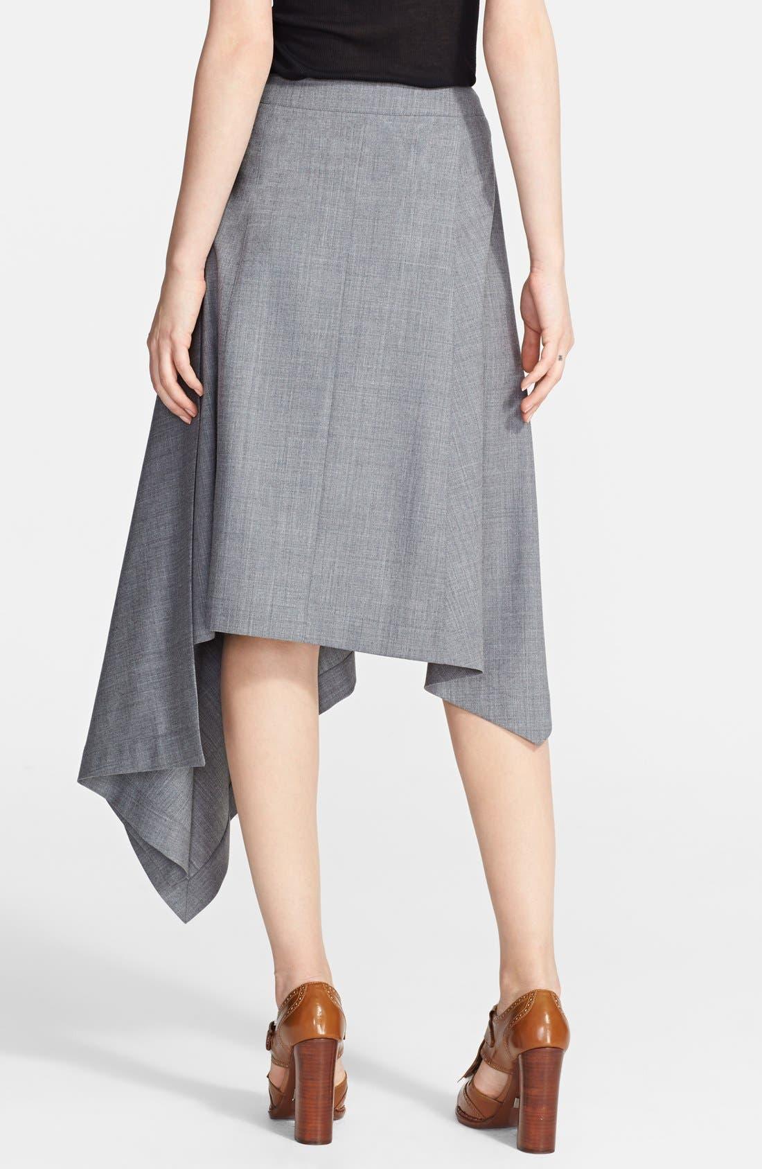 Alternate Image 2  - Michael Kors Asymmetrical Hem Tropical Wool Skirt