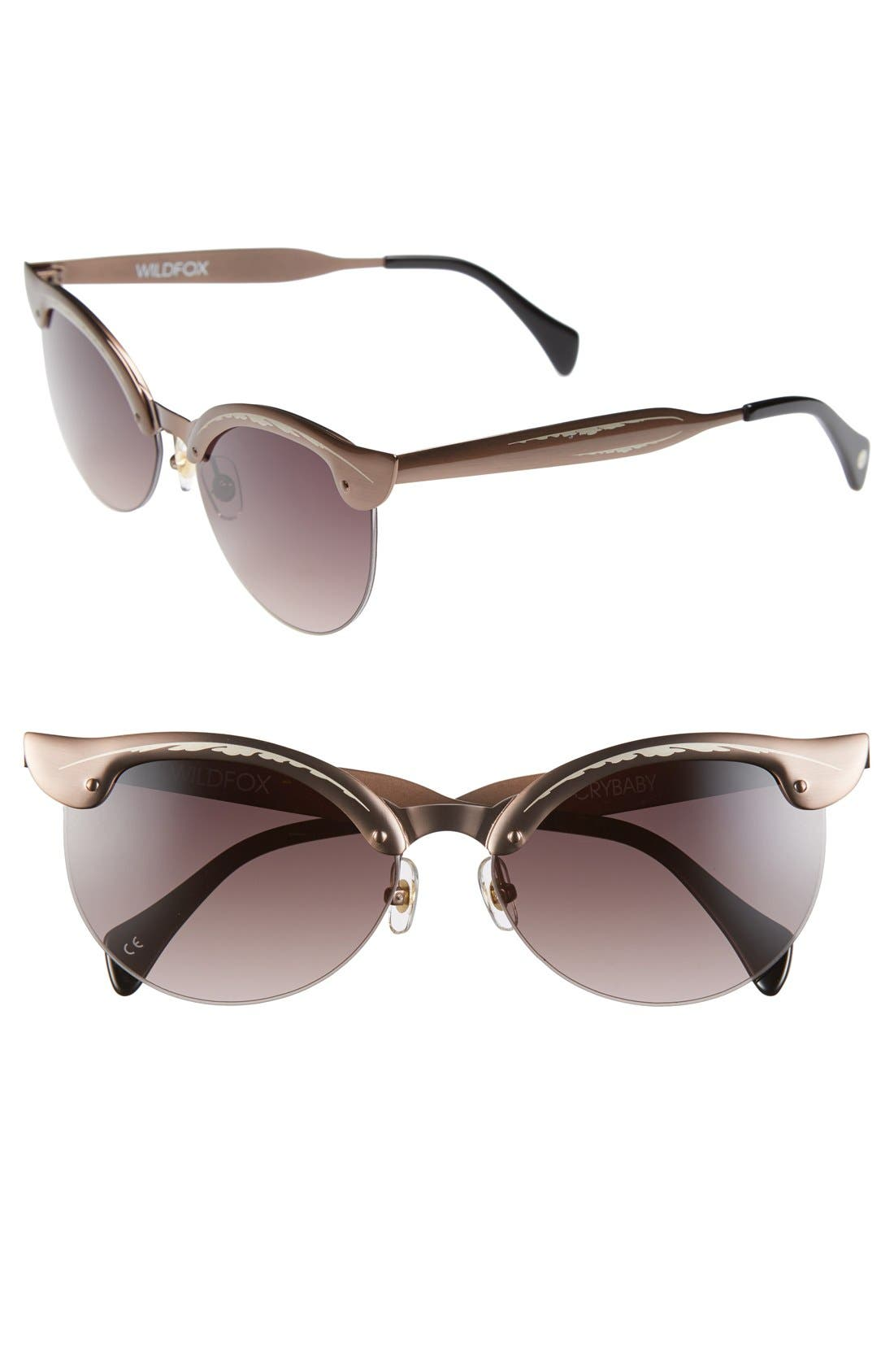 Main Image - Wildfox 'Crybaby' 57mm Sunglasses