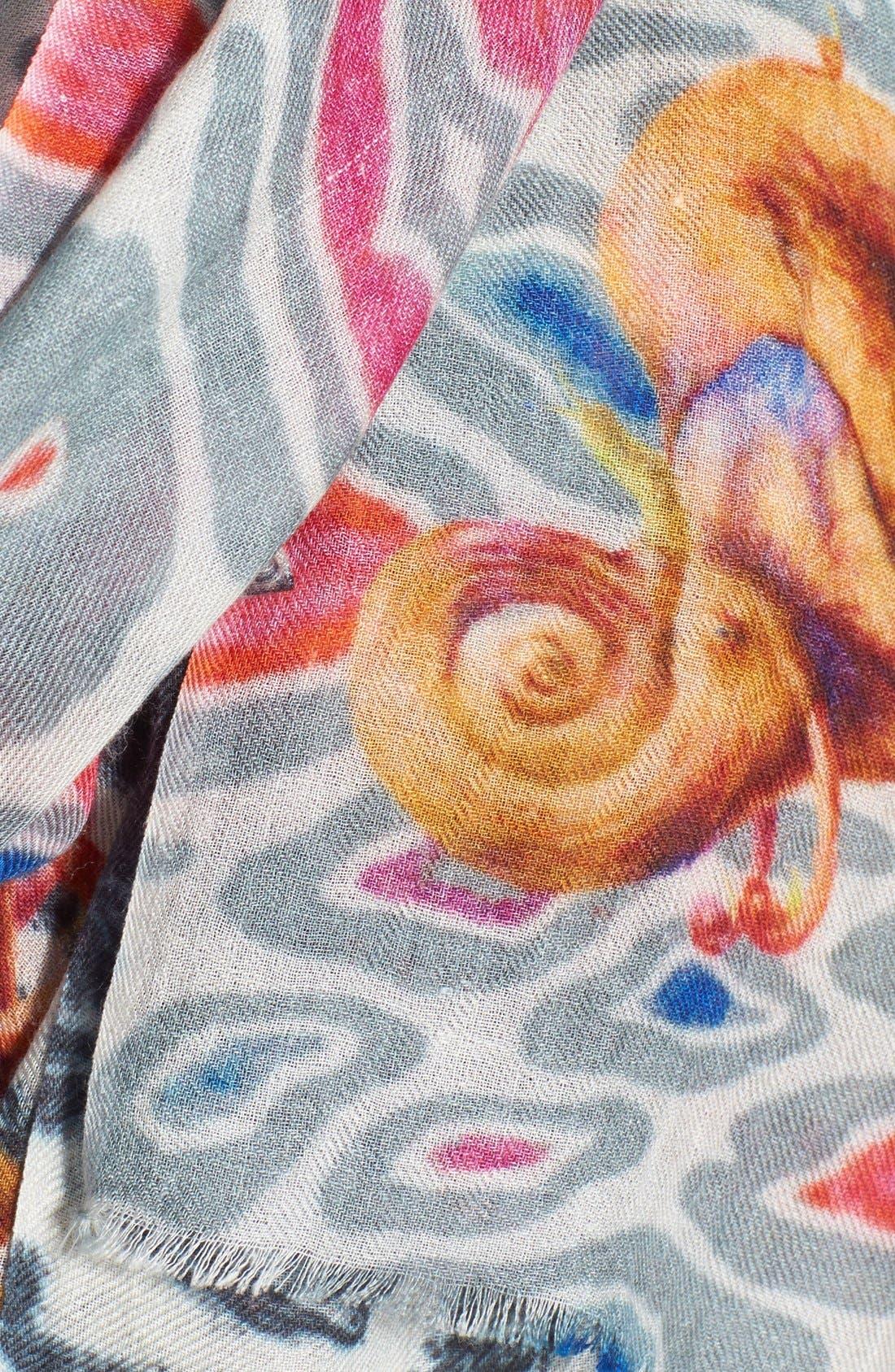 Alternate Image 3  - Bindya 'Elephants Play' Cashmere & Silk Shawl
