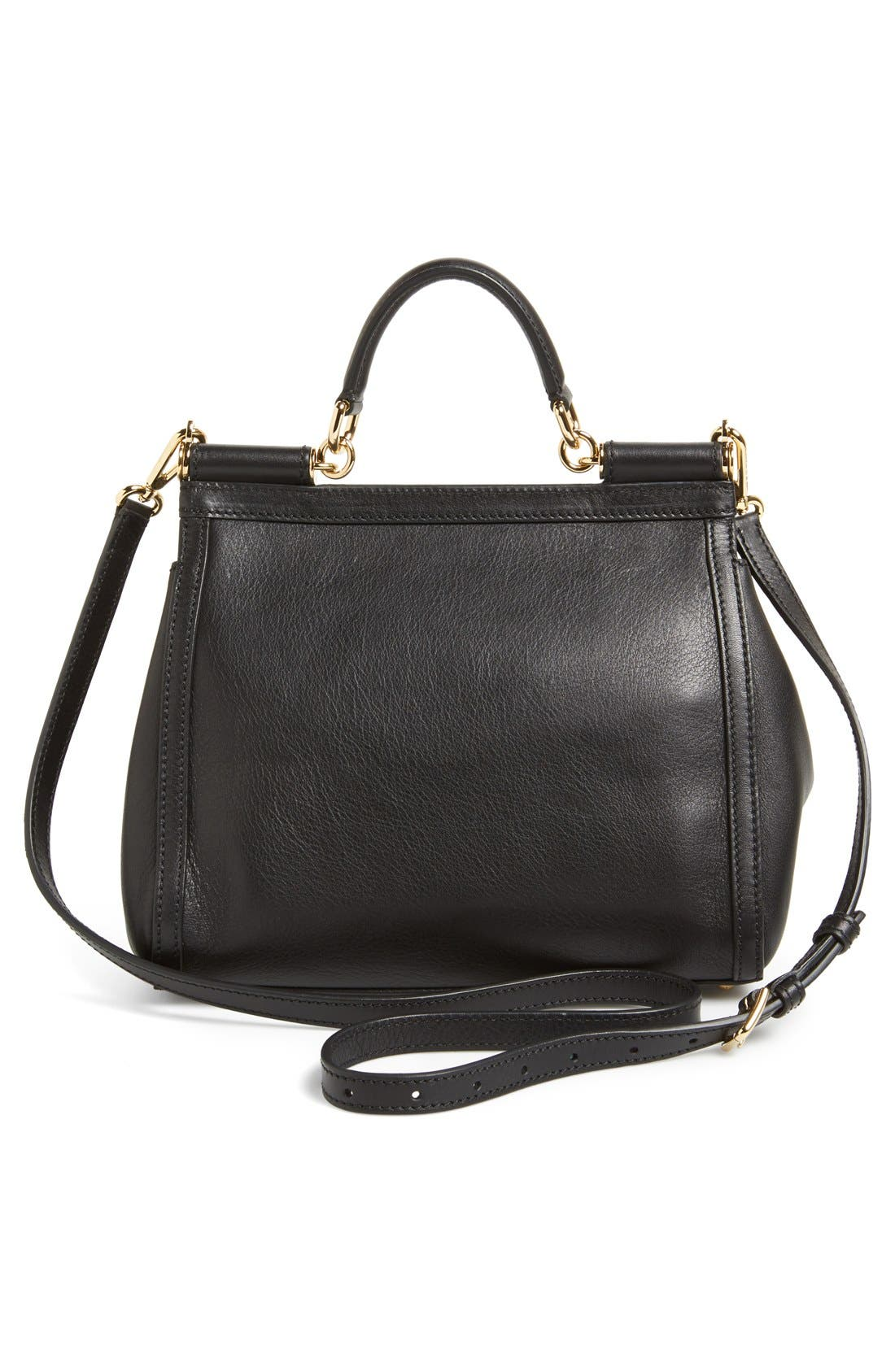 Alternate Image 4  - Dolce&Gabbana 'Miss Sicily - Mini' Studded Top Handle Leather Satchel