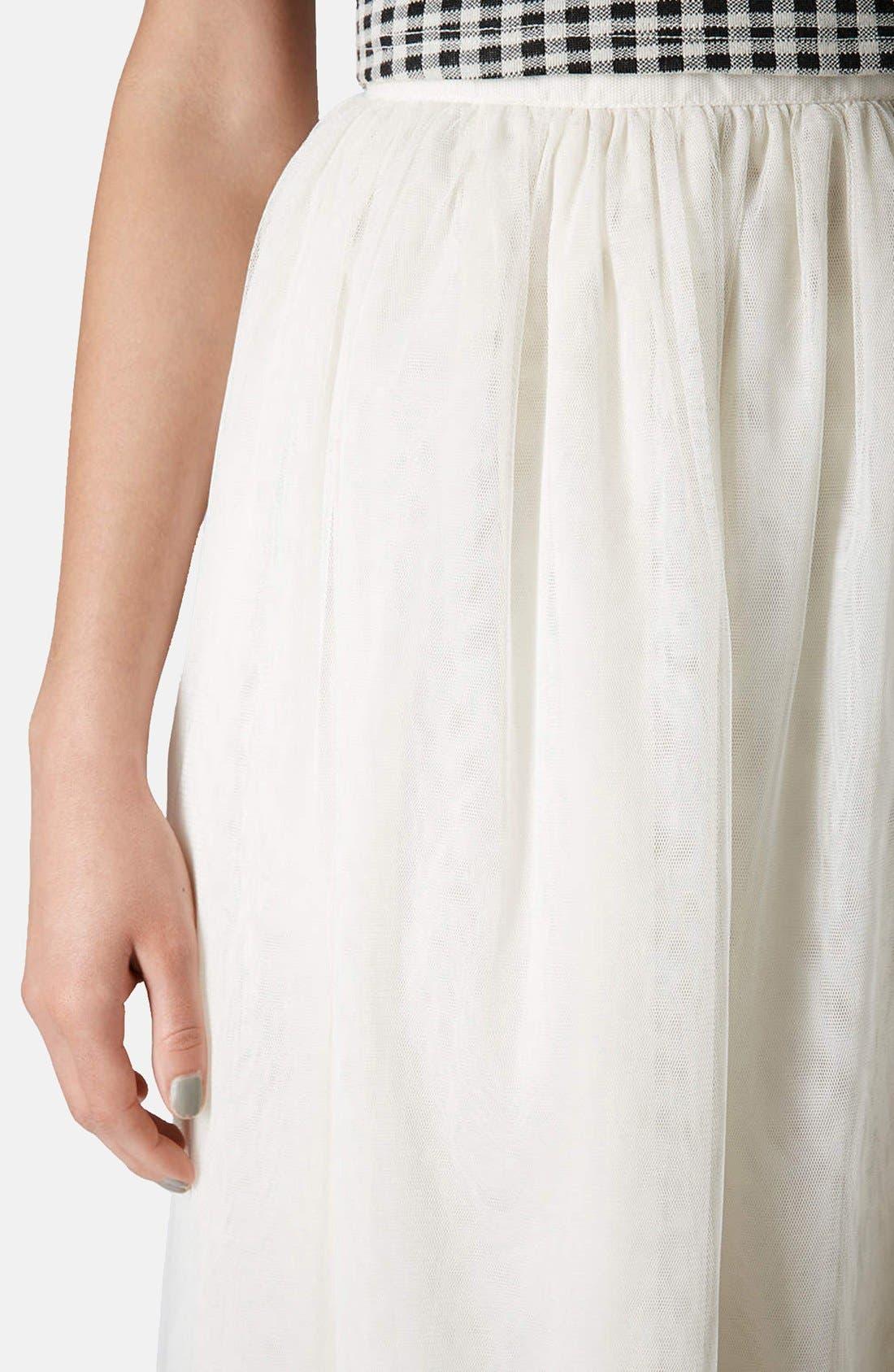 Alternate Image 4  - Topshop 'Ballerina Prom' Tulle Midi Skirt