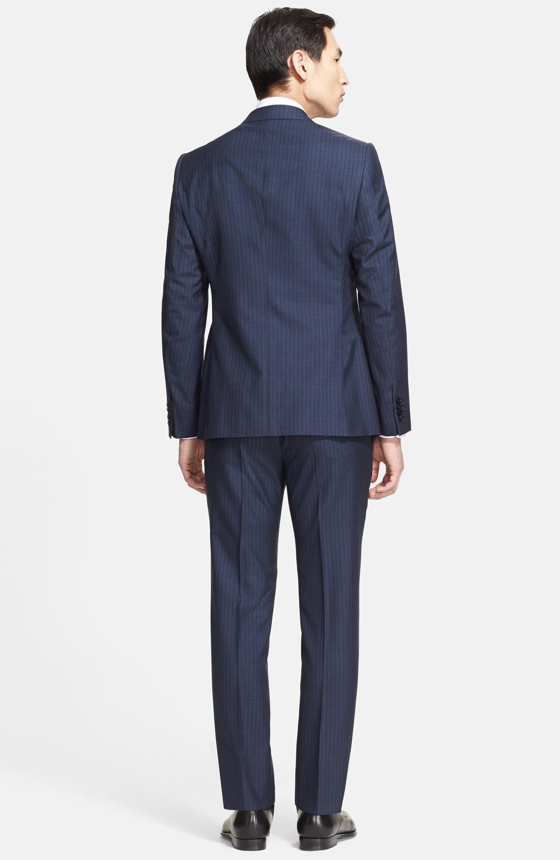 Alternate Image 2  - Armani Collezioni 'Sartorial' Pinstripe Wool Blend Suit