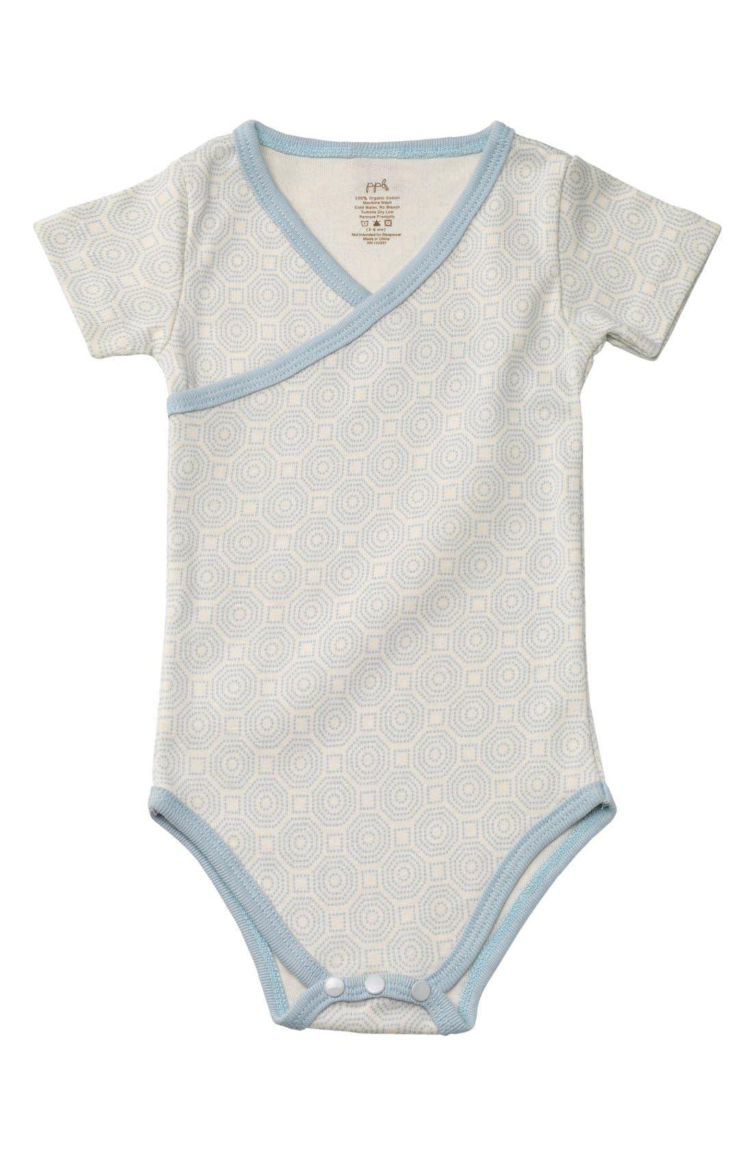 Alternate Image 1 Selected - Petunia Pickle Bottom Organic Cotton Short Sleeve Bodysuit (Baby)