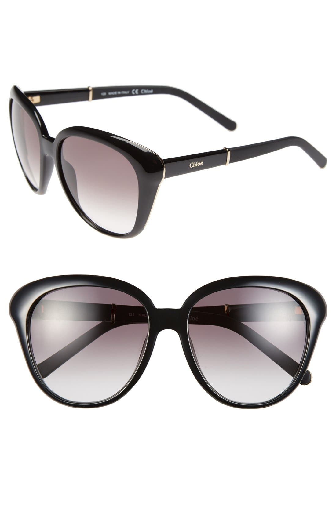 Chloé 55mm Cat Eye Sunglasses