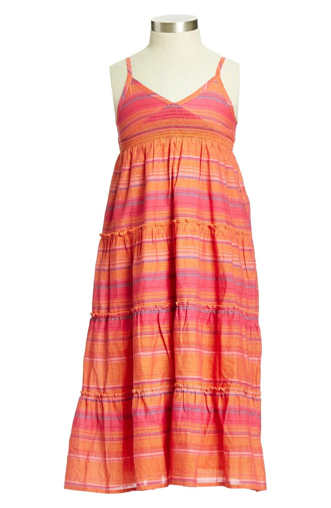 Alternate Image 1 Selected - Peek 'Marigold' Cotton Dress (Toddler Girls, Little Girls & Big Girls)