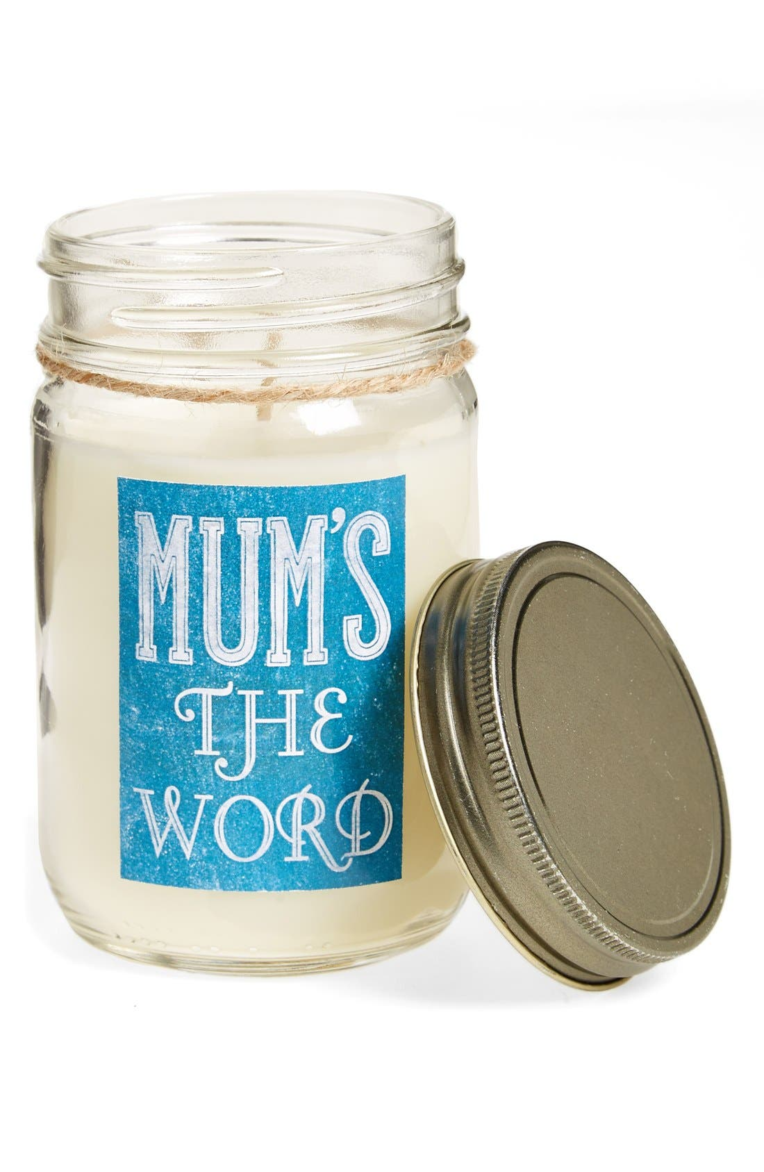 Alternate Image 1 Selected - Primitives by Kathy 'Mum's the Word - Clean Linen' Mason Jar Candle