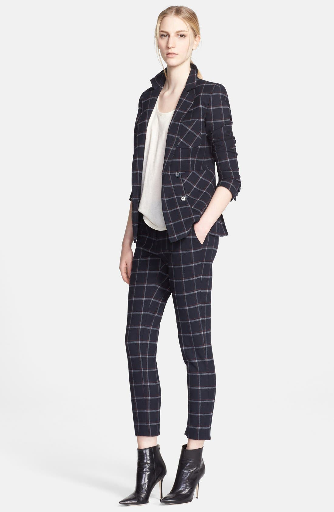 Alternate Image 3  - Band of Outsiders Plaid Crop Pants