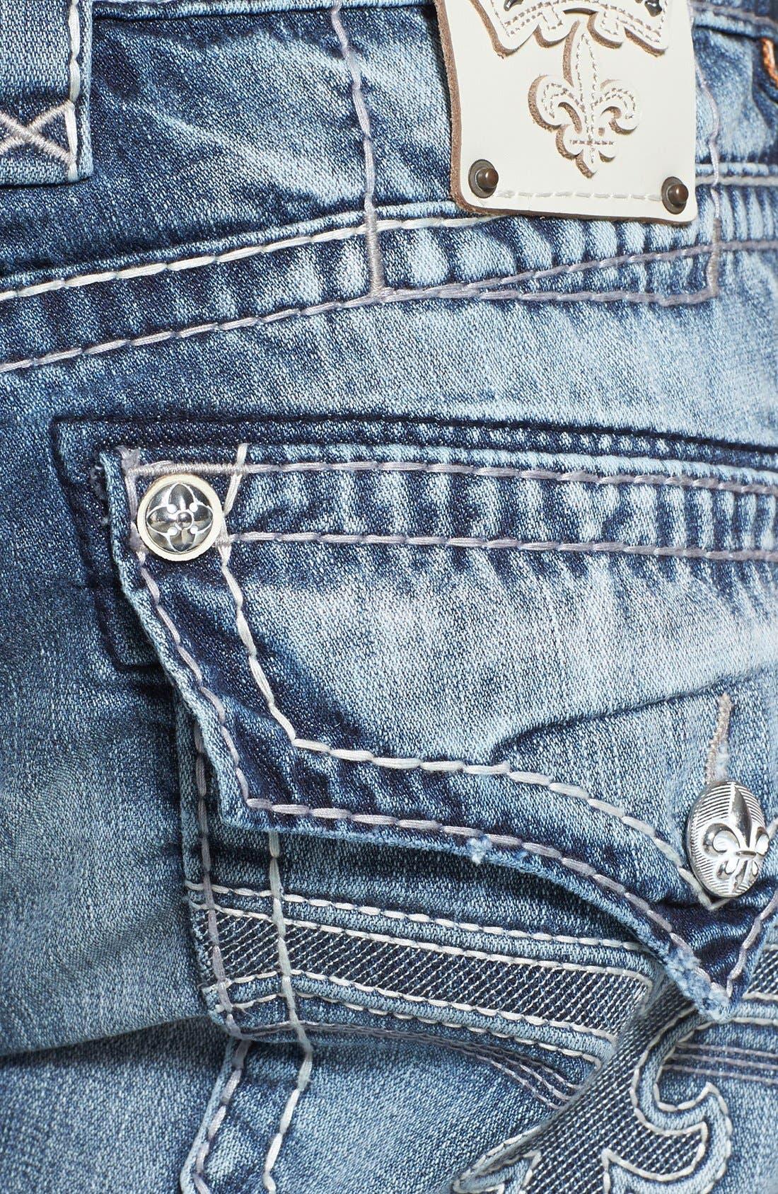 Alternate Image 4  - Rock Revival 'Jed' Straight Leg Jeans (Light Blue)