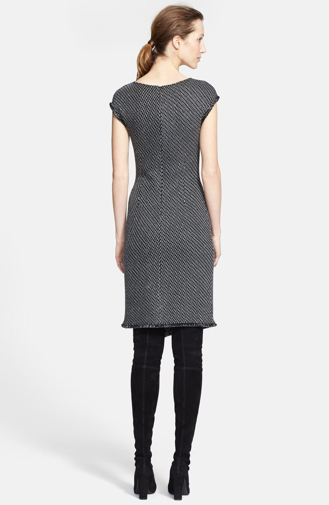 Alternate Image 2  - St. John Collection Sparkle Macro Twill Knit Dress (Online Only)