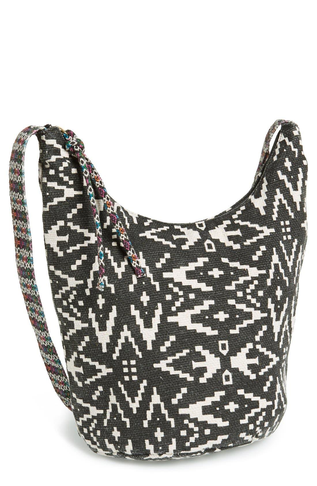 Alternate Image 1 Selected - Lulu Geo Print Canvas Crossbody Bag (Juniors) (Online Only)