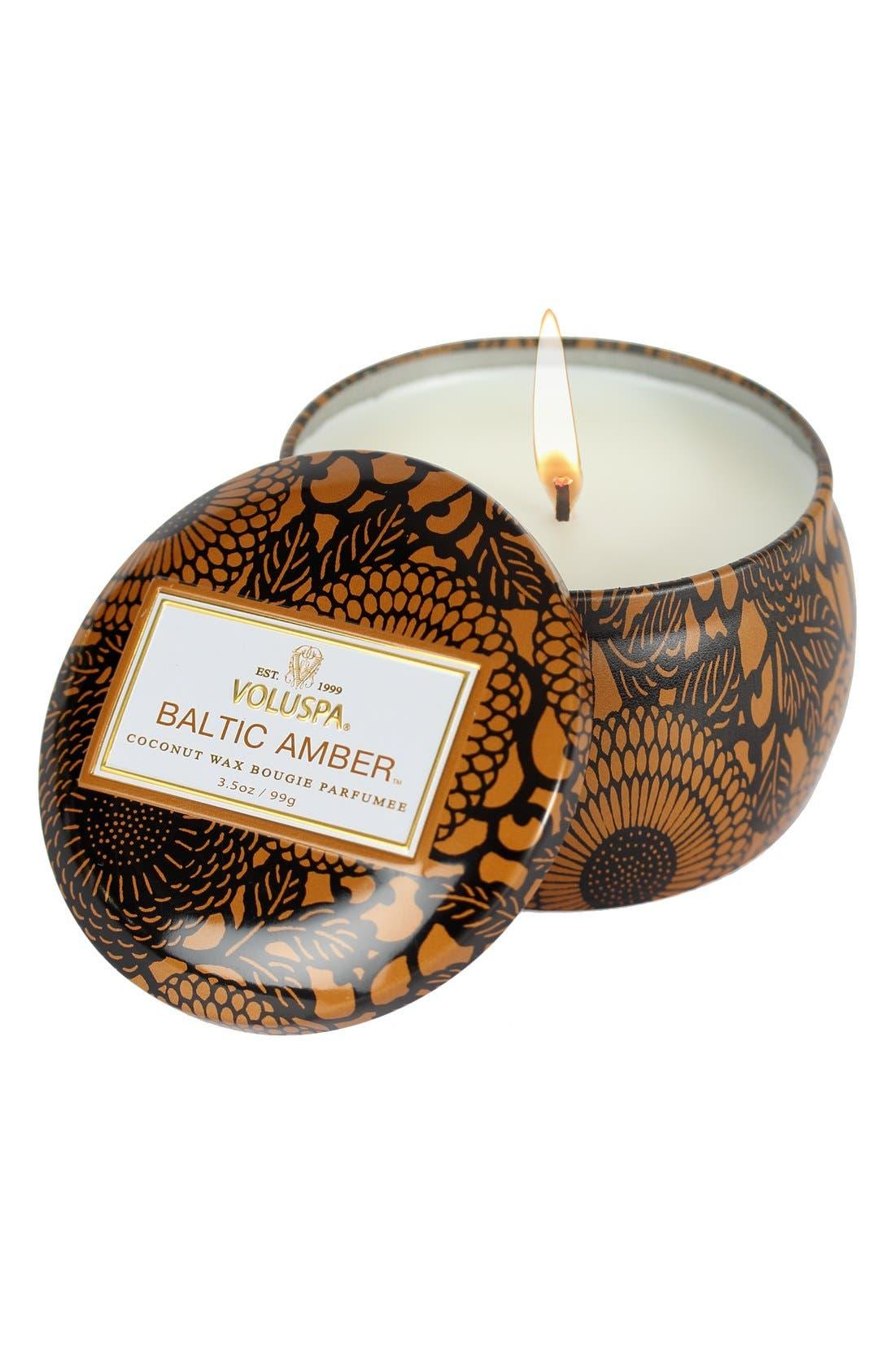 Main Image - Voluspa 'Japonica - Baltic Amber' Petite Decorative Candle