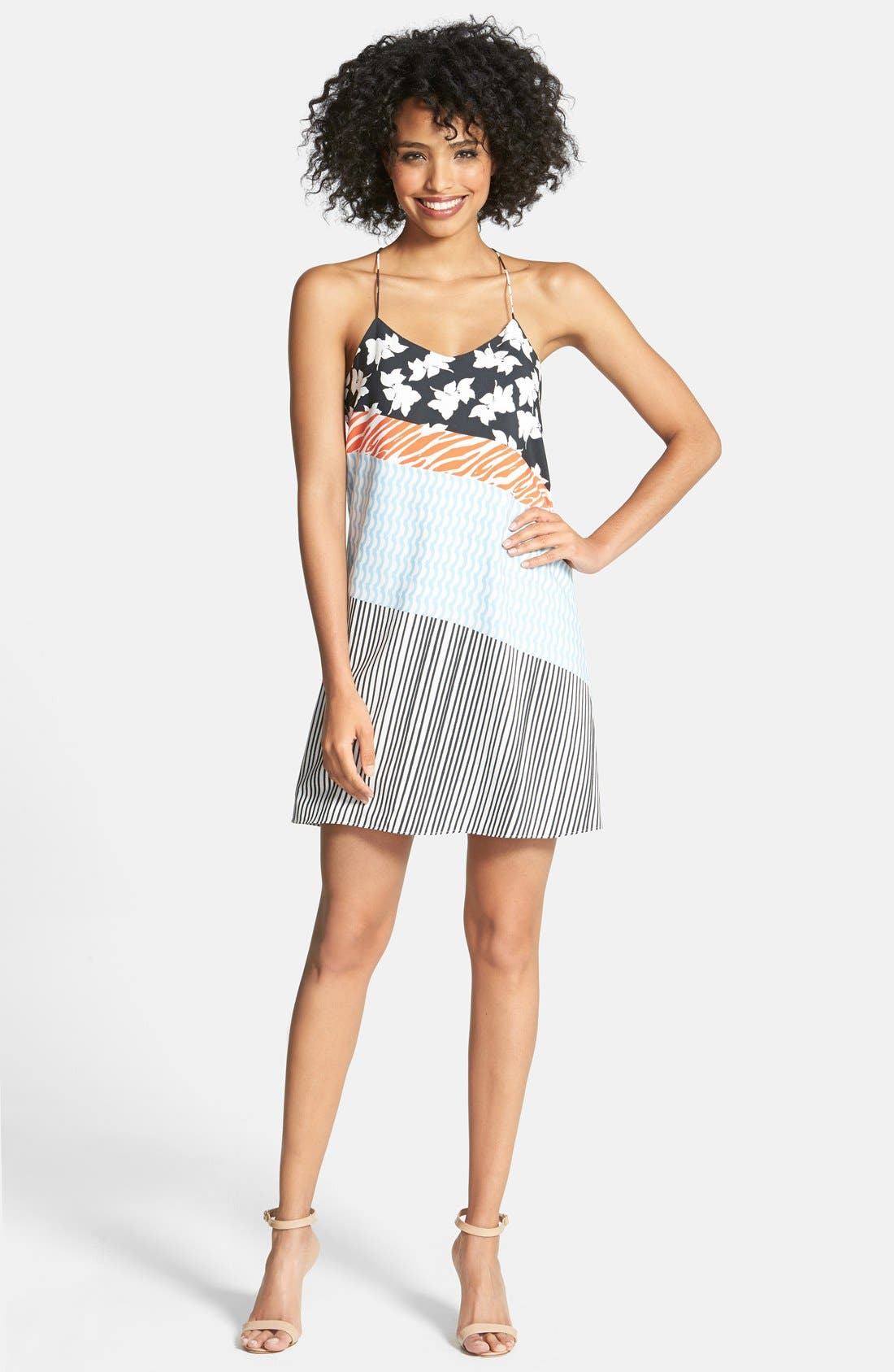Alternate Image 1 Selected - CeCe by Cynthia Steffe Print Slipdress