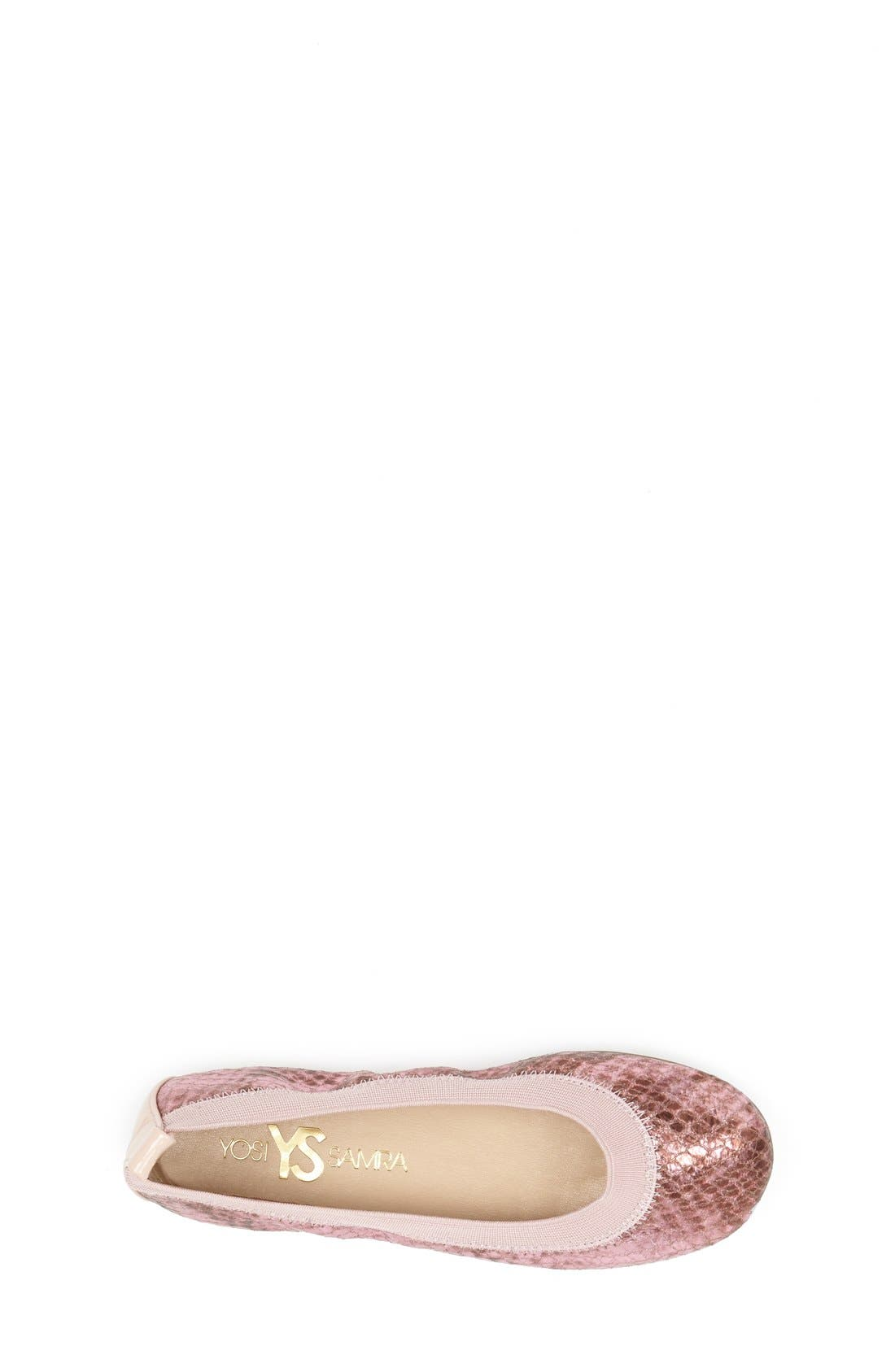 Alternate Image 2  - Yosi Samra Python Embossed Metallic Leather Flat (Toddler, Little Kid & Big Kid)
