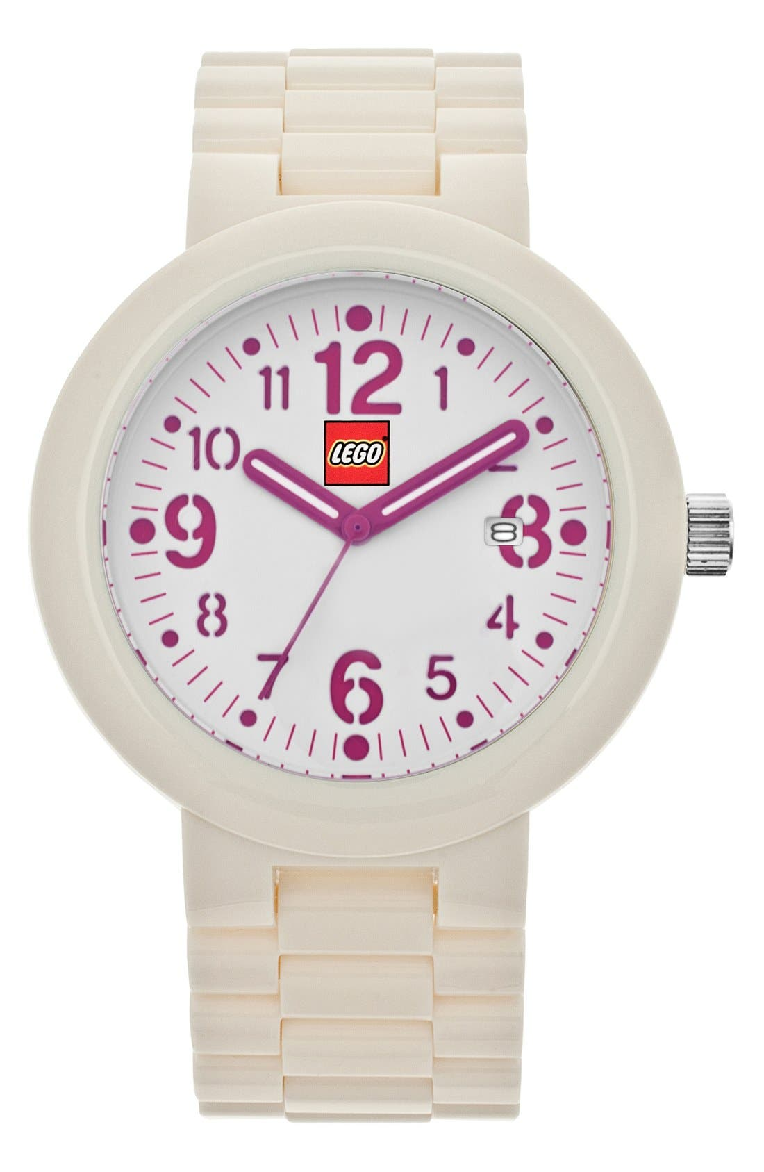 Alternate Image 1 Selected - LEGO® 'Silhouette' Bracelet Watch, 42mm