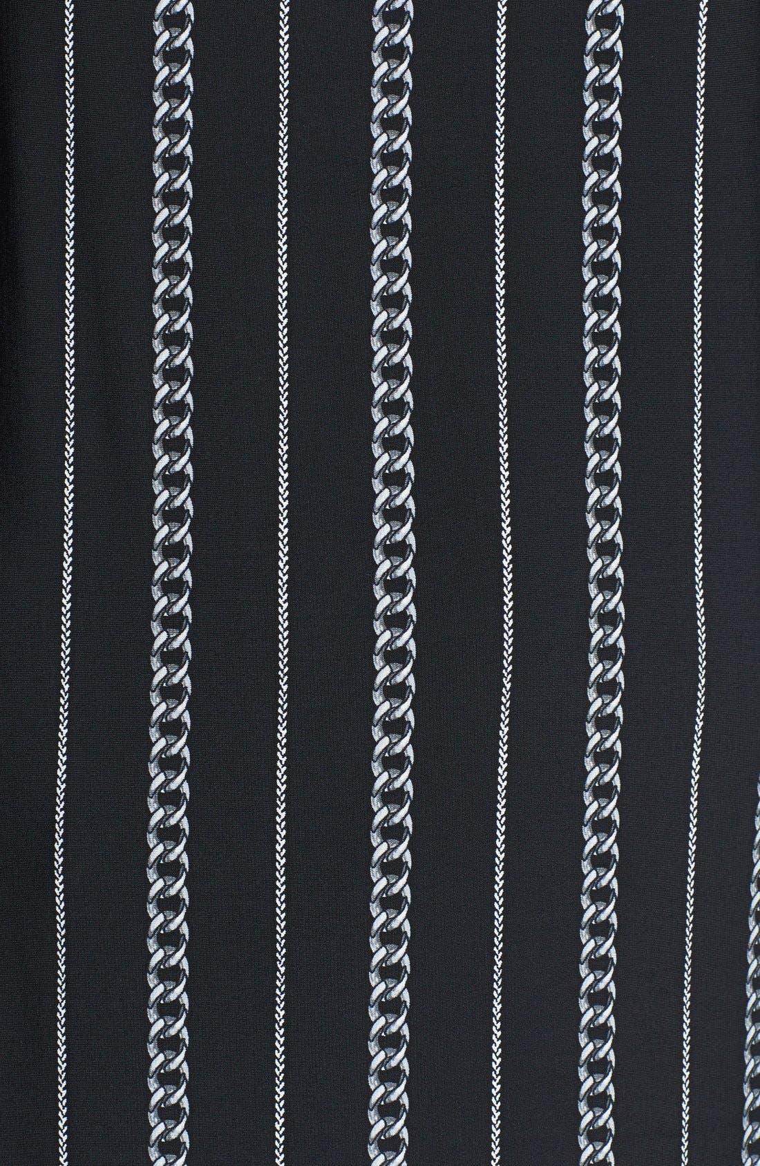 Alternate Image 3  - MICHAEL Michael Kors Chain Fringe Tie Print Top