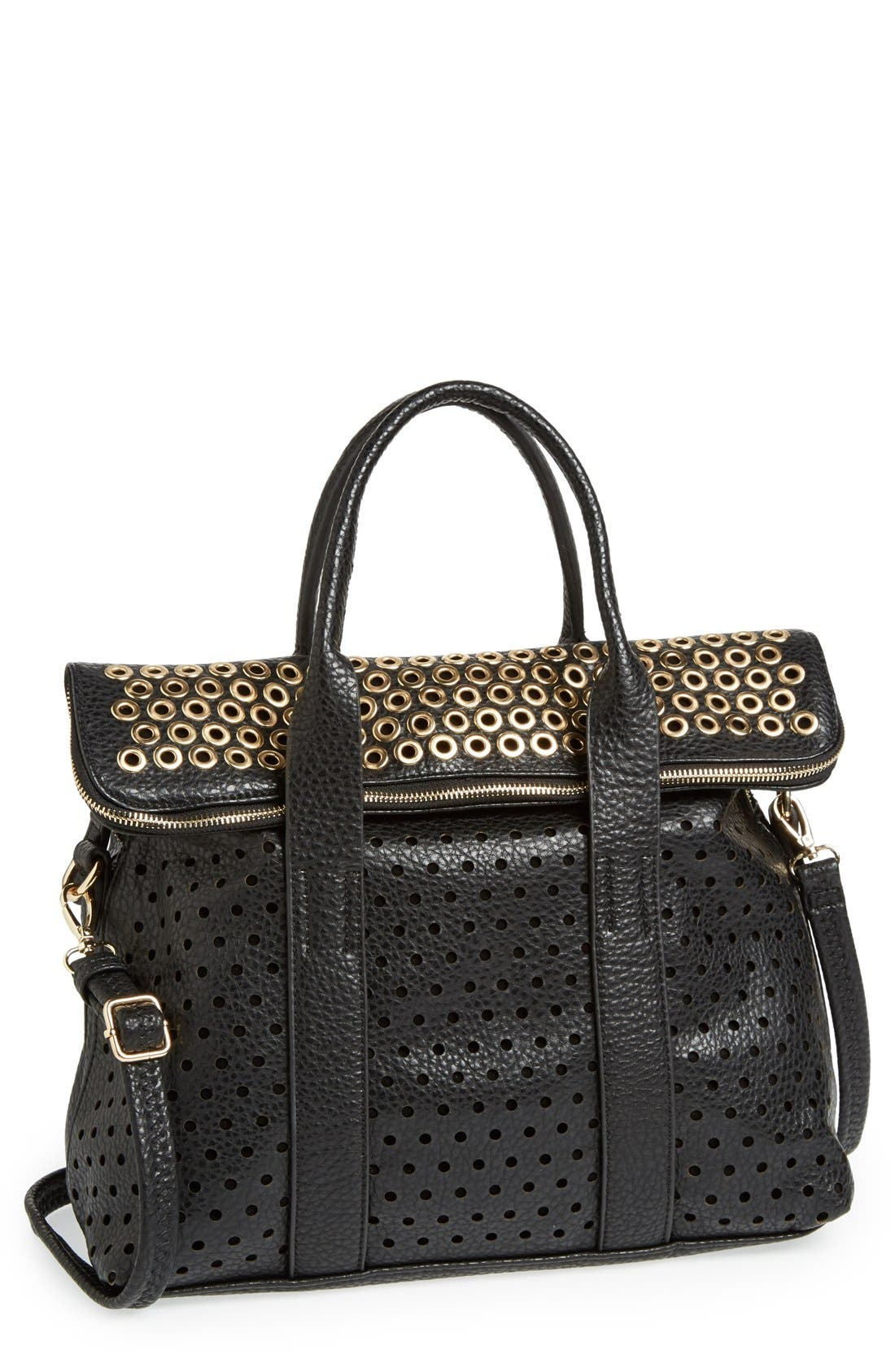 Alternate Image 1 Selected - Expressions NYC Faux Leather Satchel