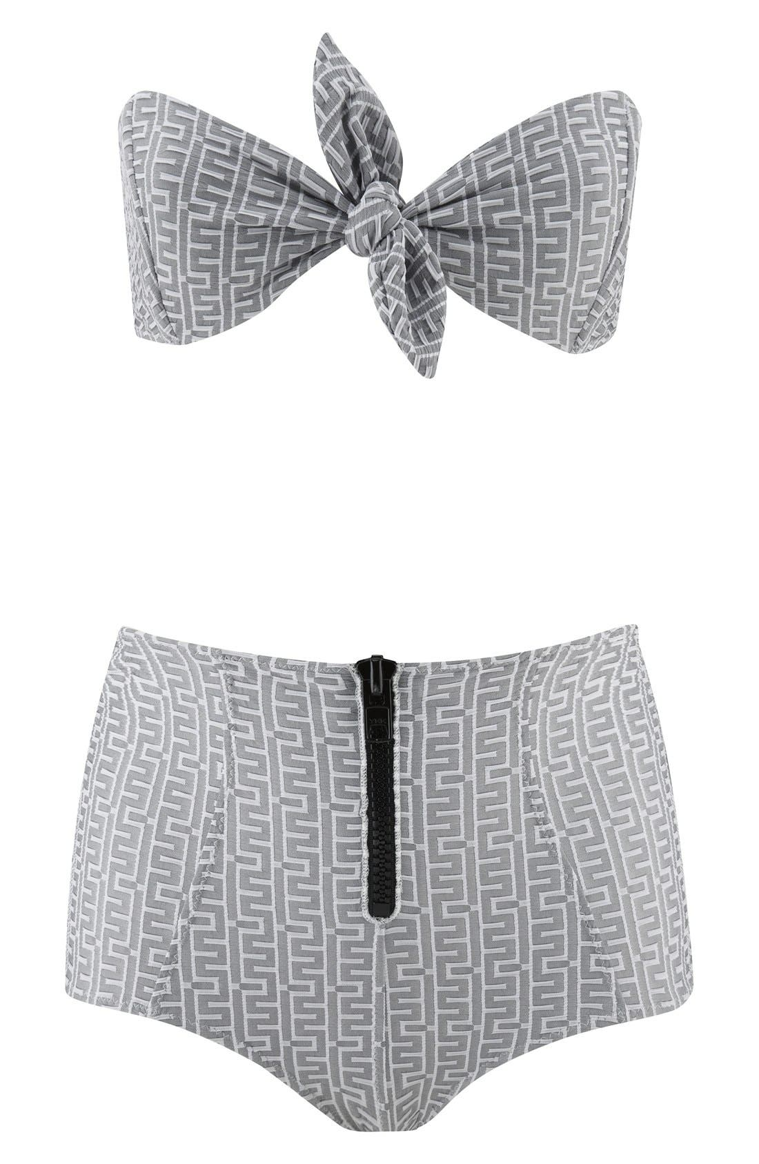 Main Image - Lisa Marie Fernandez 'Poppy' Zip High Waist Bikini