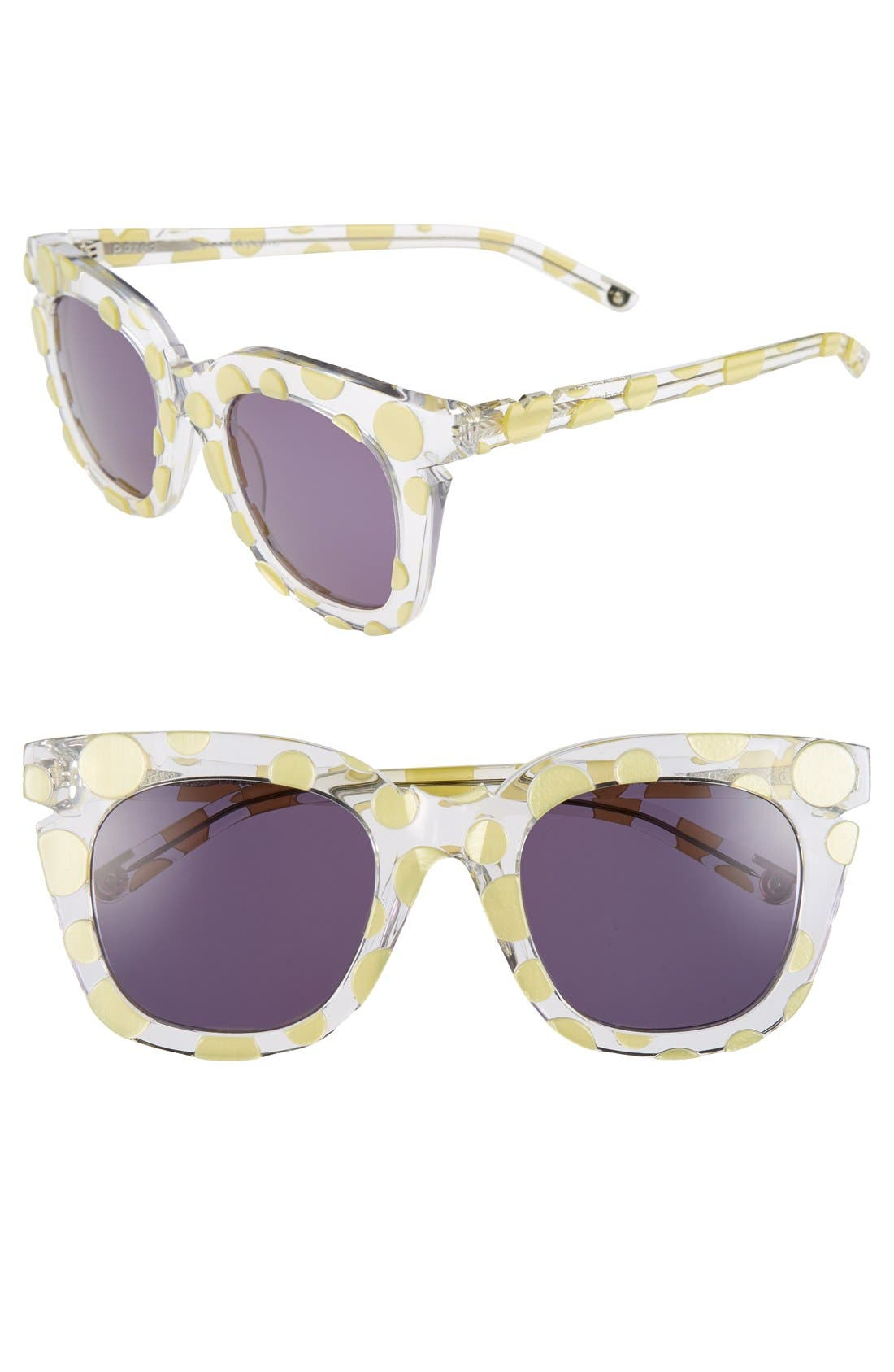 Alternate Image 2  - Pared 'Pools & Palms - Clear & Sunny Polka Dot' 50mm Sunglasses