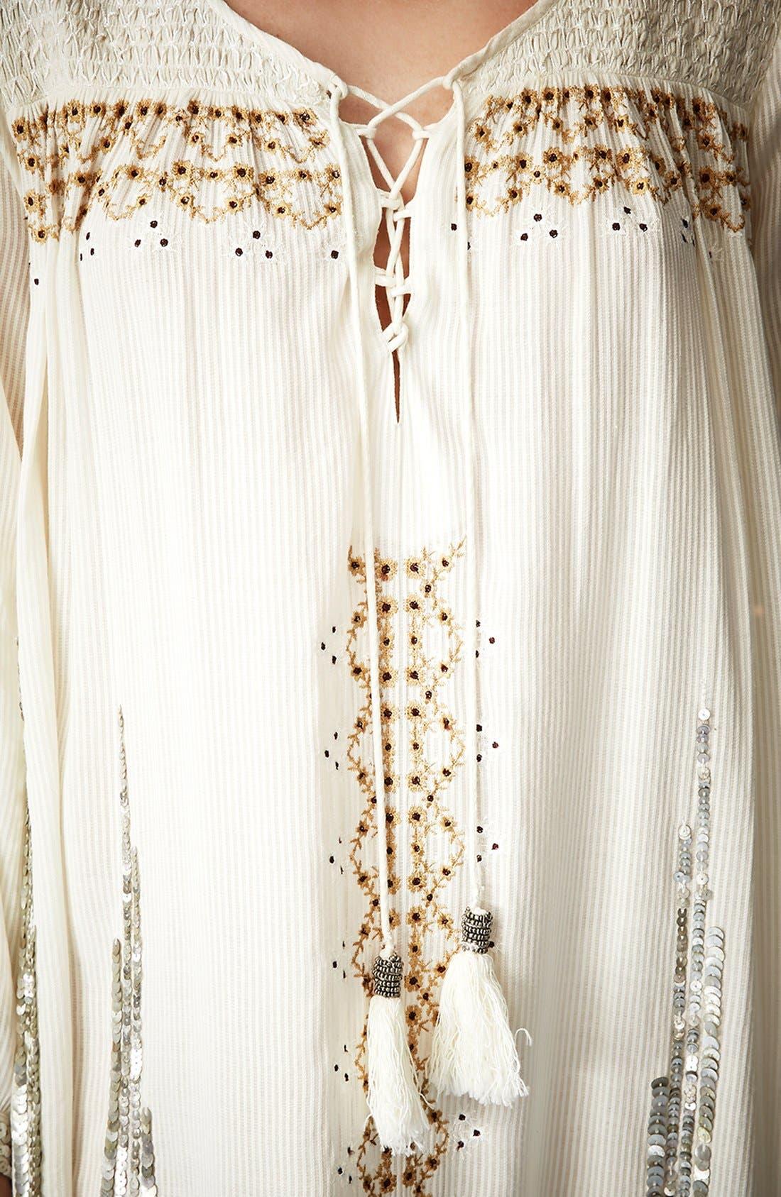 Alternate Image 3  - Kate Moss for Topshop 'Folk' Smocked Dress