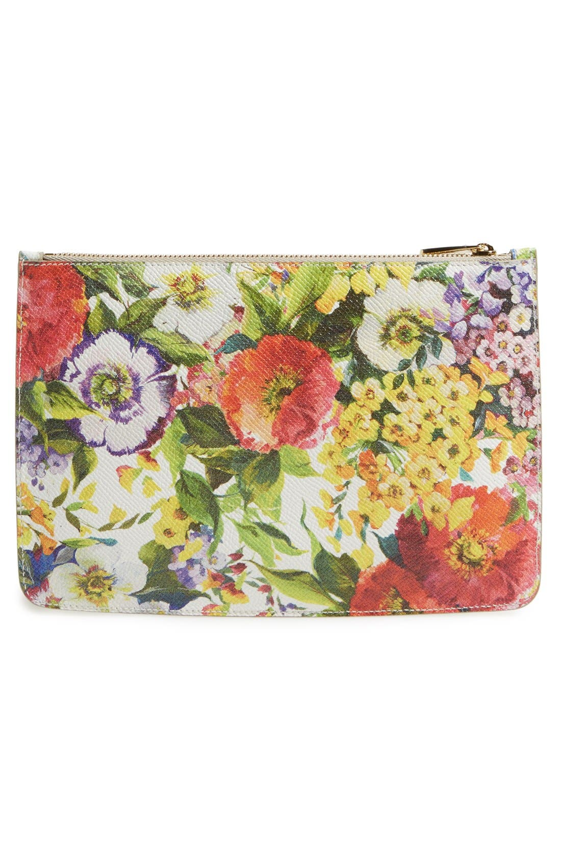 Alternate Image 4  - Dolce&Gabbana Floral Print Pouch