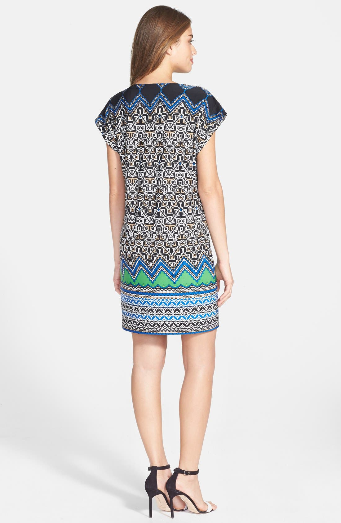 Alternate Image 2  - Laundry by Shelli Segal Print Jersey Shift Dress