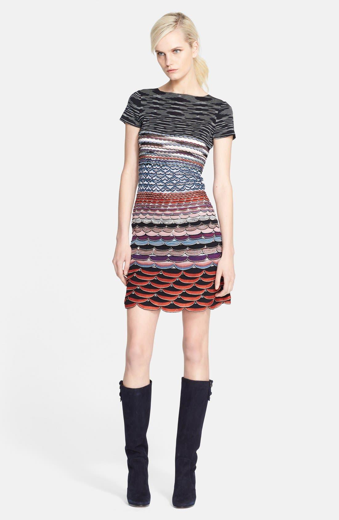 Main Image - Missoni Wavy Knit T-Shirt Dress