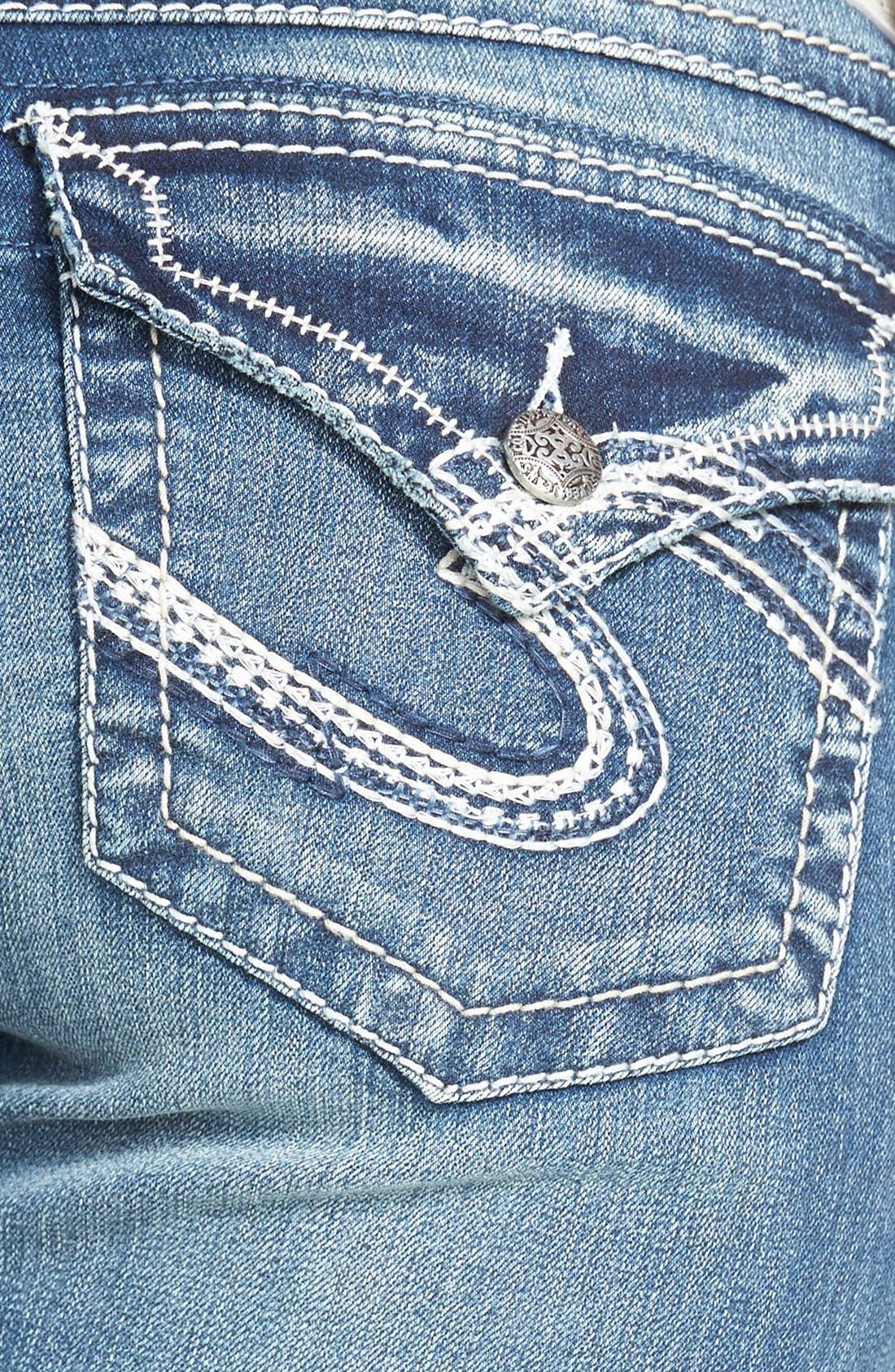 Alternate Image 3  - Silver Jeans Co. 'Tuesday'  Flap Pocket Bootcut Jeans (Indigo)