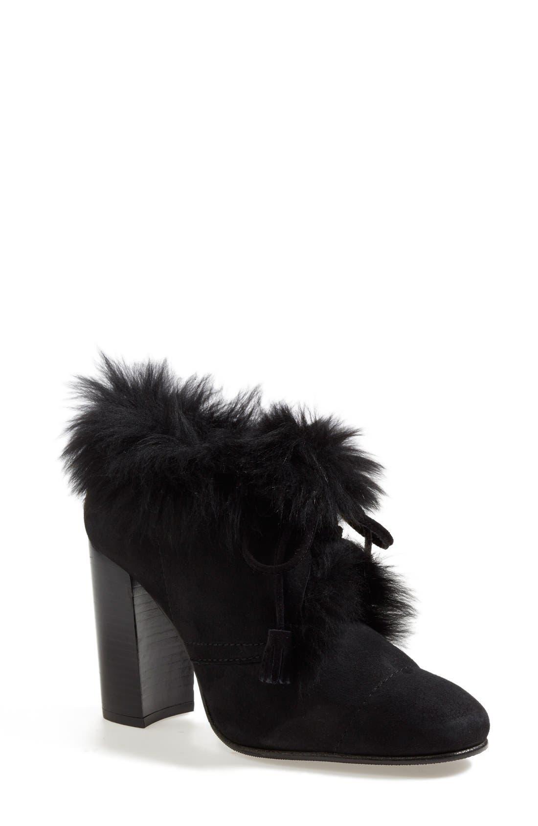 Alternate Image 1 Selected - Pedro Garcia 'Barbara' Genuine Shearling & Leather Bootie (Women)