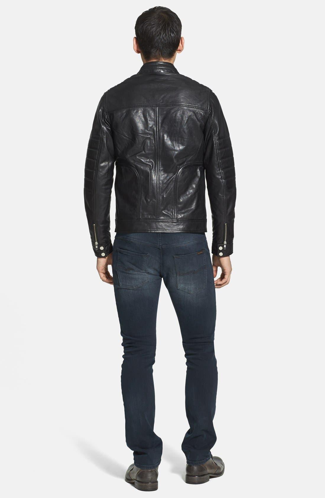Alternate Image 5  - LAMARQUE Trim Fit Leather Biker Jacket (Online Only)