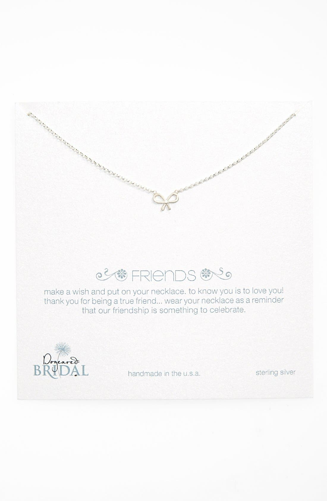 Alternate Image 1 Selected - Dogeared 'Friends - Bow' Pendant Necklace (Nordstrom Exclusive)