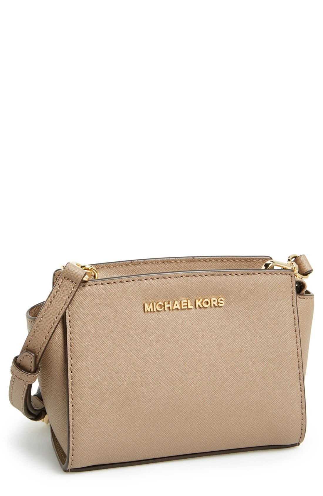 Main Image - MICHAEL Michael Kors 'Selma - Mini' Saffiano Leather Messenger Bag
