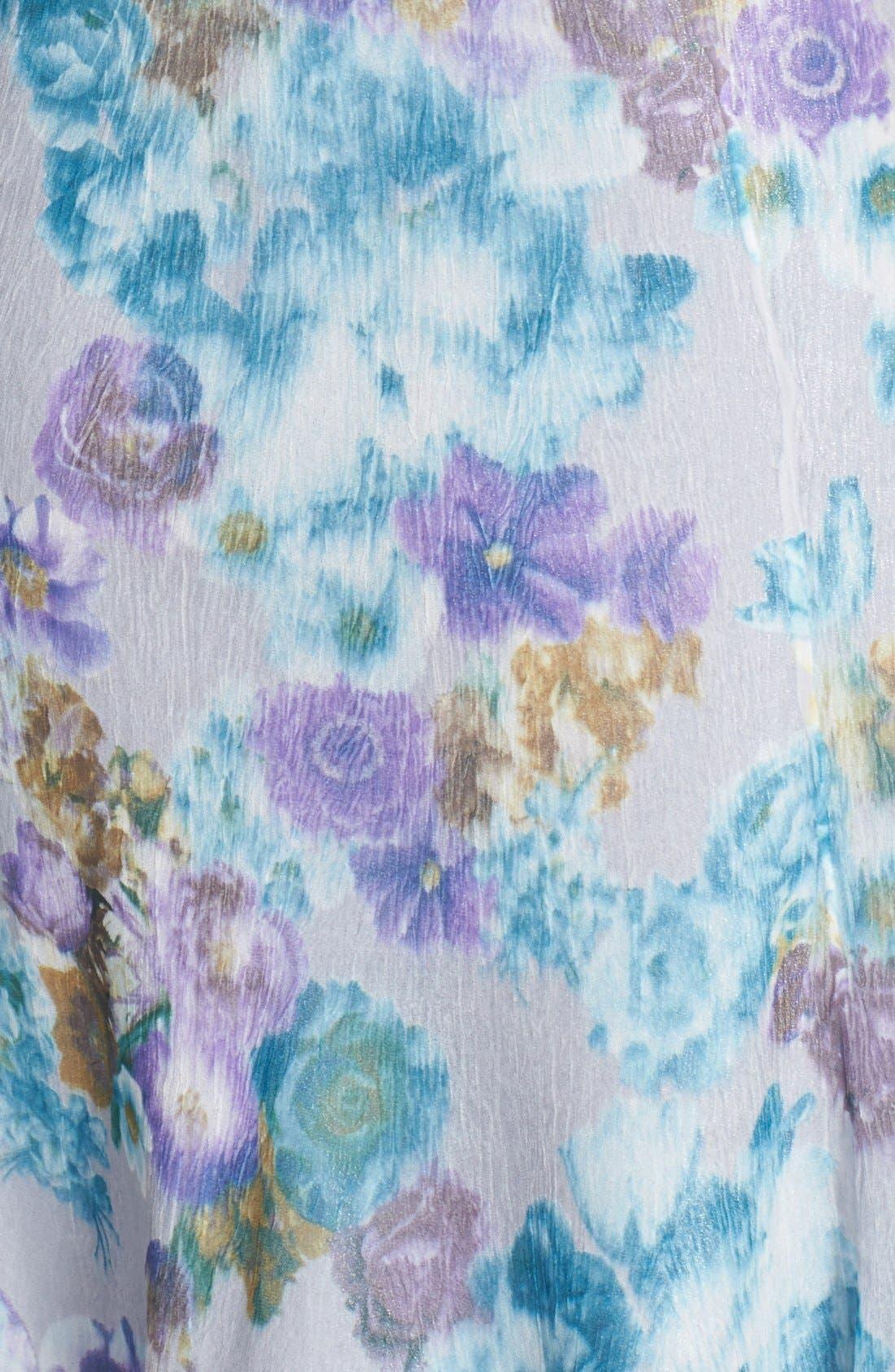Alternate Image 4  - Komarov Print Ruffled Chiffon Dress