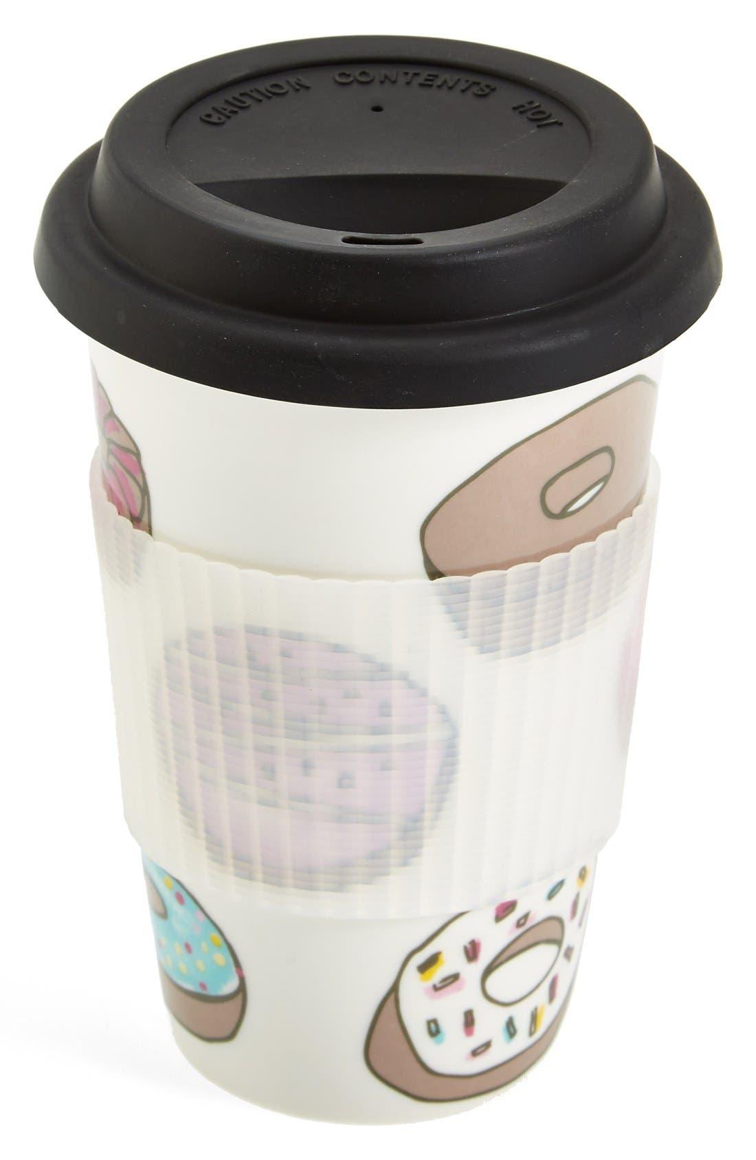 Alternate Image 1 Selected - PJ Salvage 'Donuts' Ceramic Travel Mug