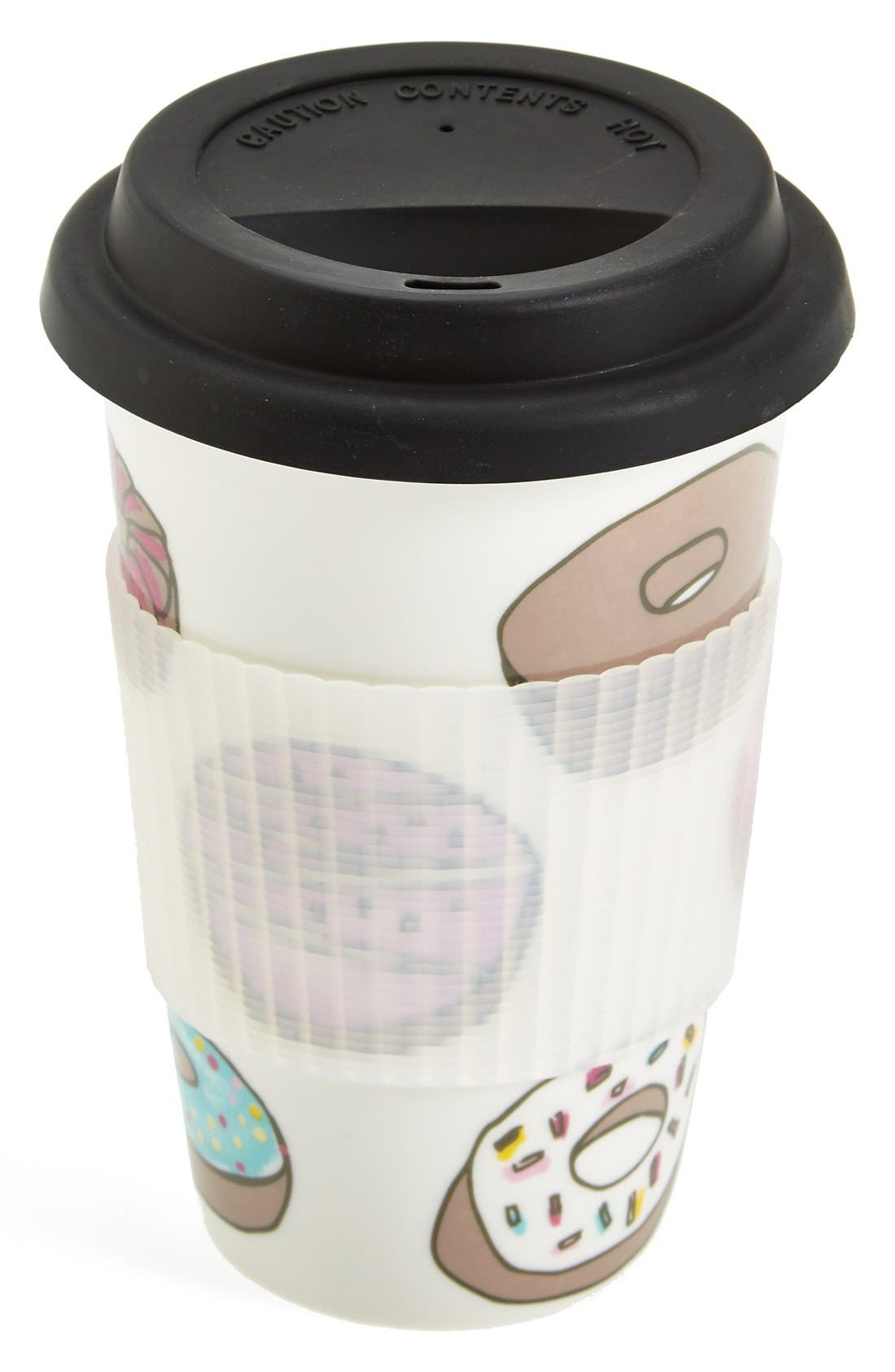 Main Image - PJ Salvage 'Donuts' Ceramic Travel Mug