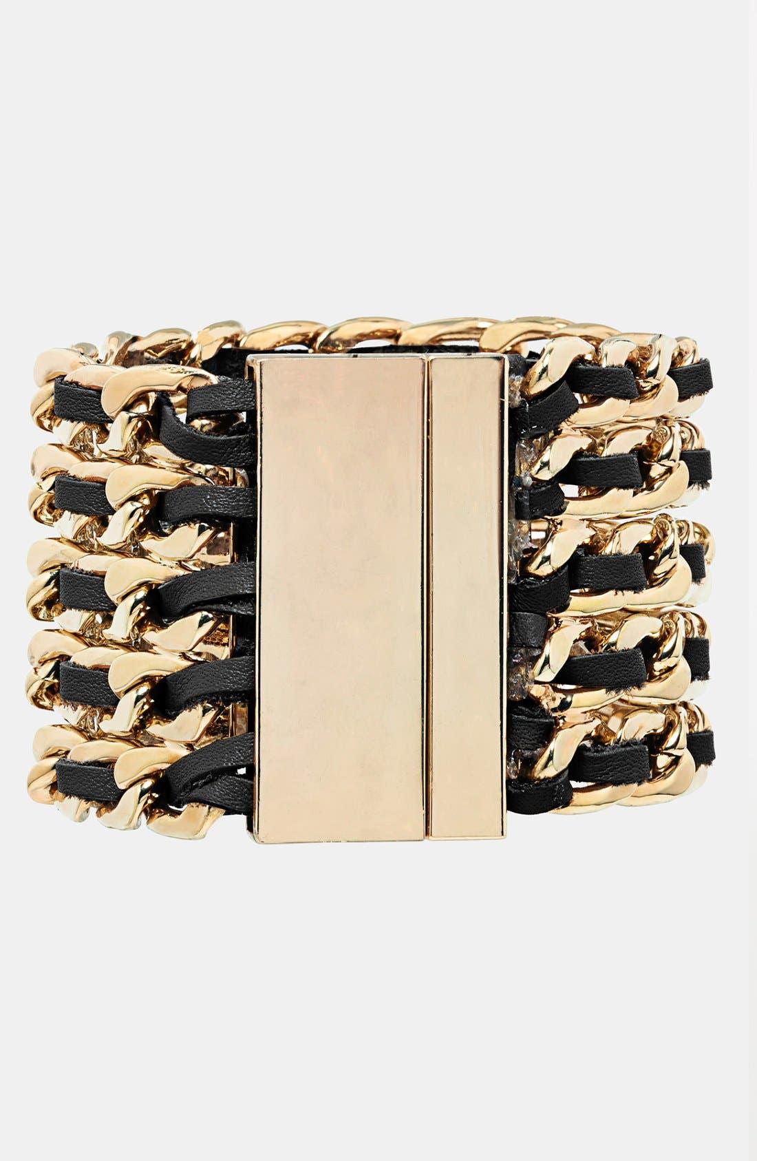 Alternate Image 2  - Cara Leather & Link Bracelet