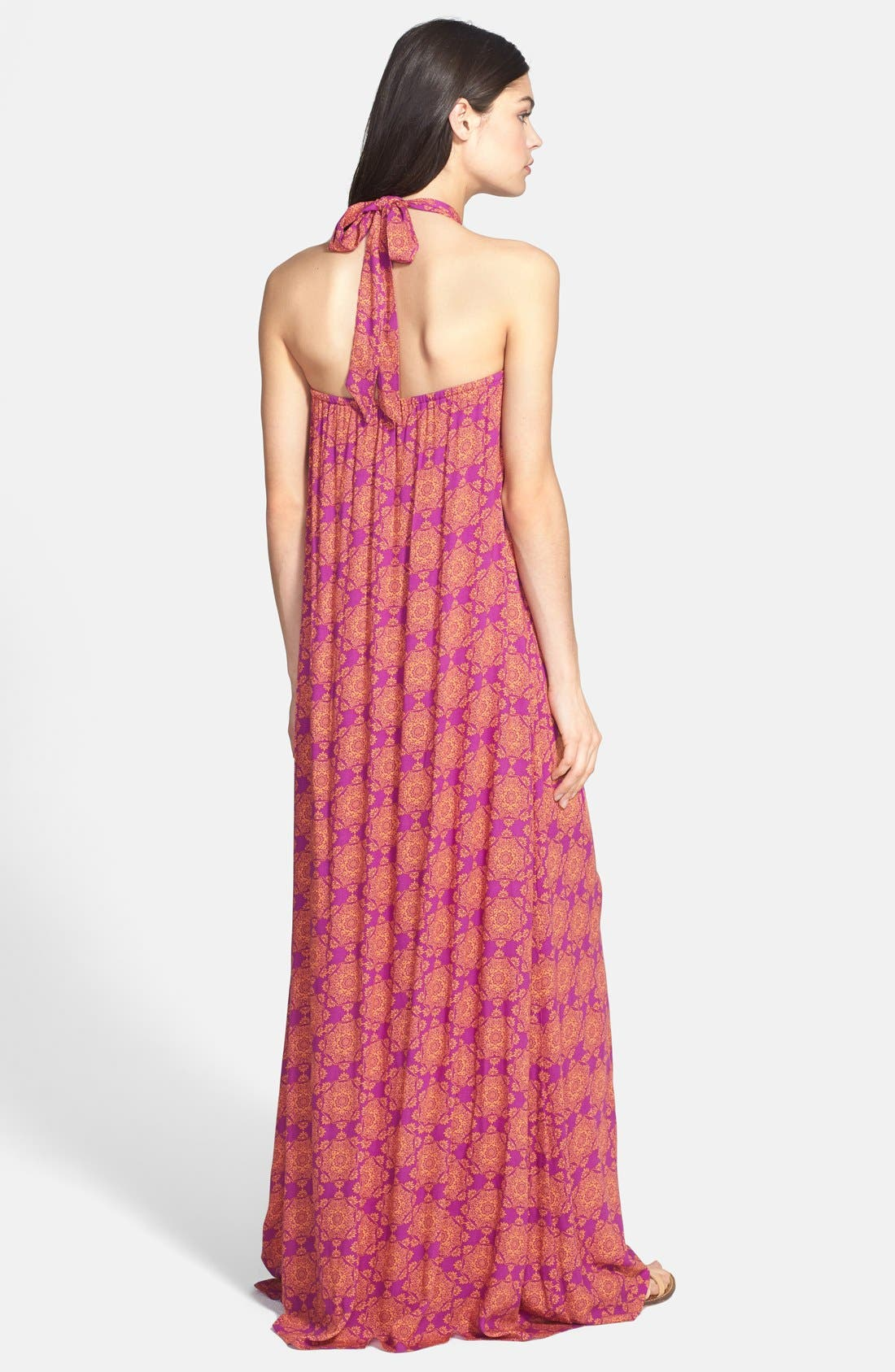 Alternate Image 2  - Ella Moss 'Moselle' Print Halter Maxi Dress