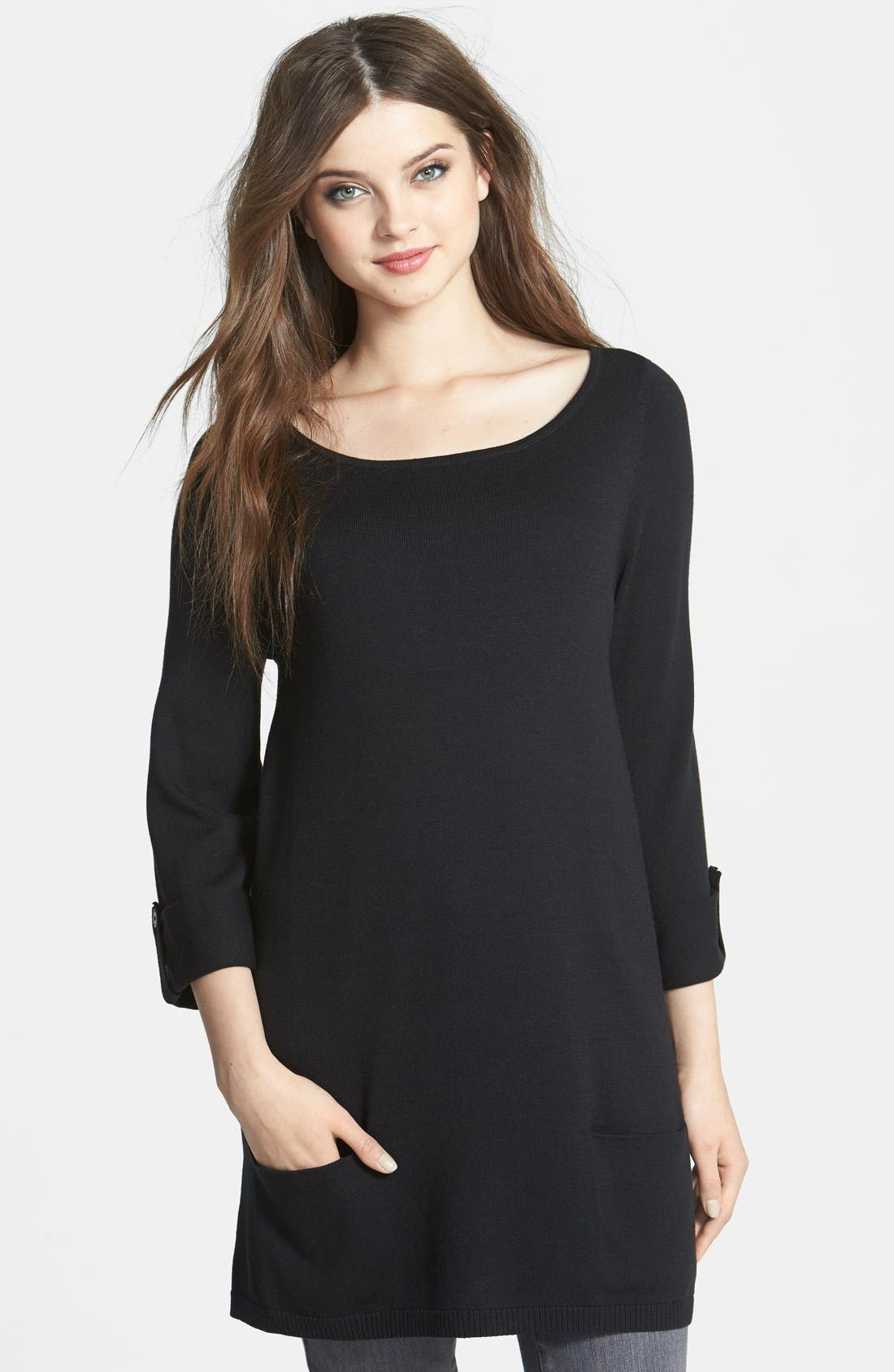 Alternate Image 1 Selected - Caslon® Knit Tunic (Regular & Petite)