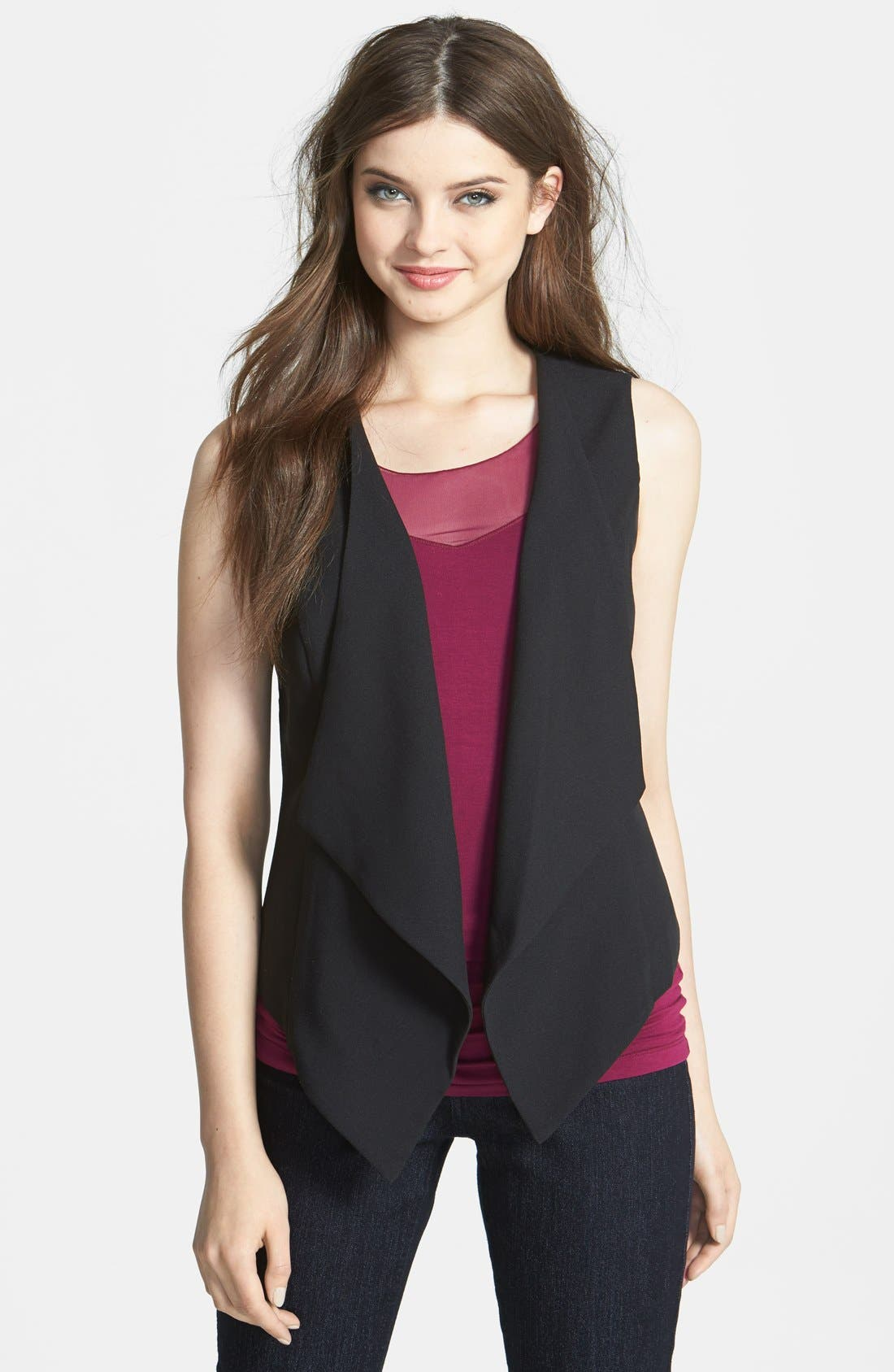 Alternate Image 1 Selected - Bellatrix Drape Front Crepe Vest (Regular & Petite)
