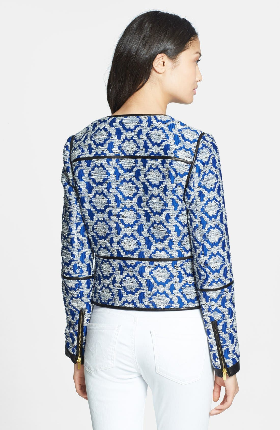 Alternate Image 2  - Diane von Furstenberg 'Maelee' Crop Jacquard Jacket