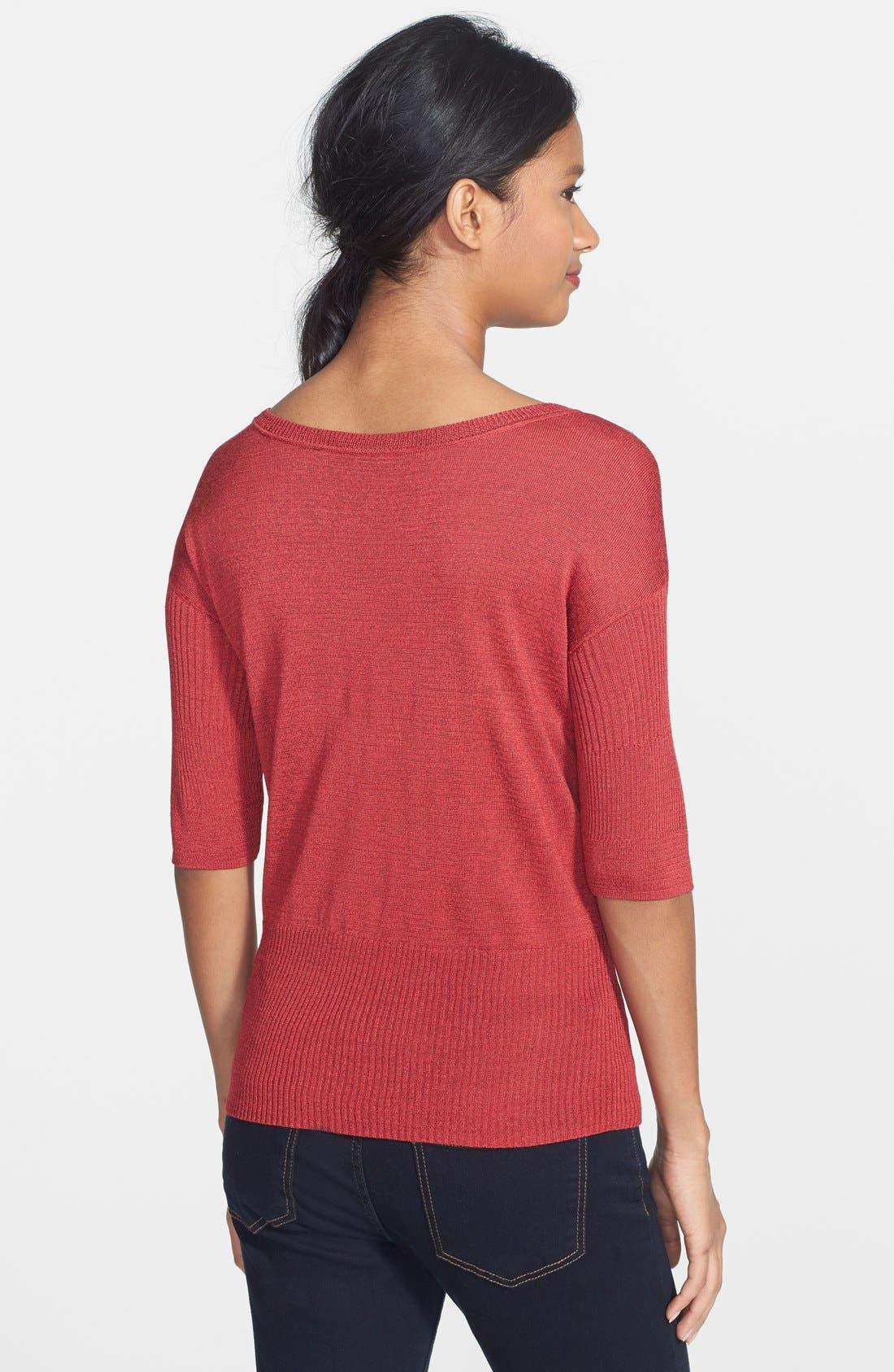 Alternate Image 2  - NIC+ZOE 'Easy' Ribbed Pullover (Regular & Petite)