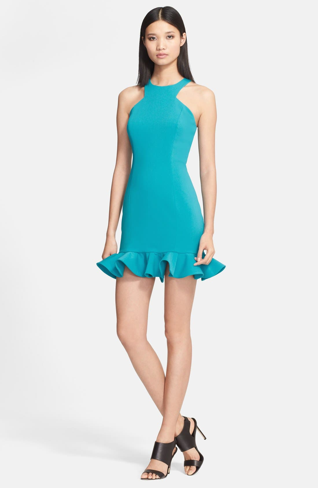 Alternate Image 1 Selected - Jay Godfrey 'Abigail' Racerfront Stretch Crepe Dress
