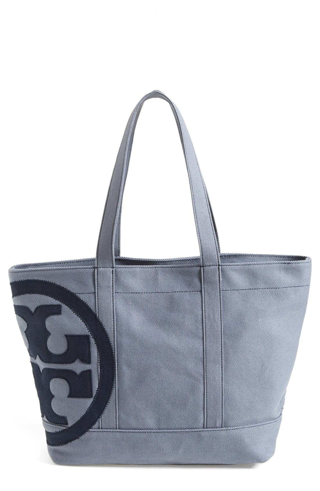 Main Image - Tory Burch 'Small' Canvas Zip Tote
