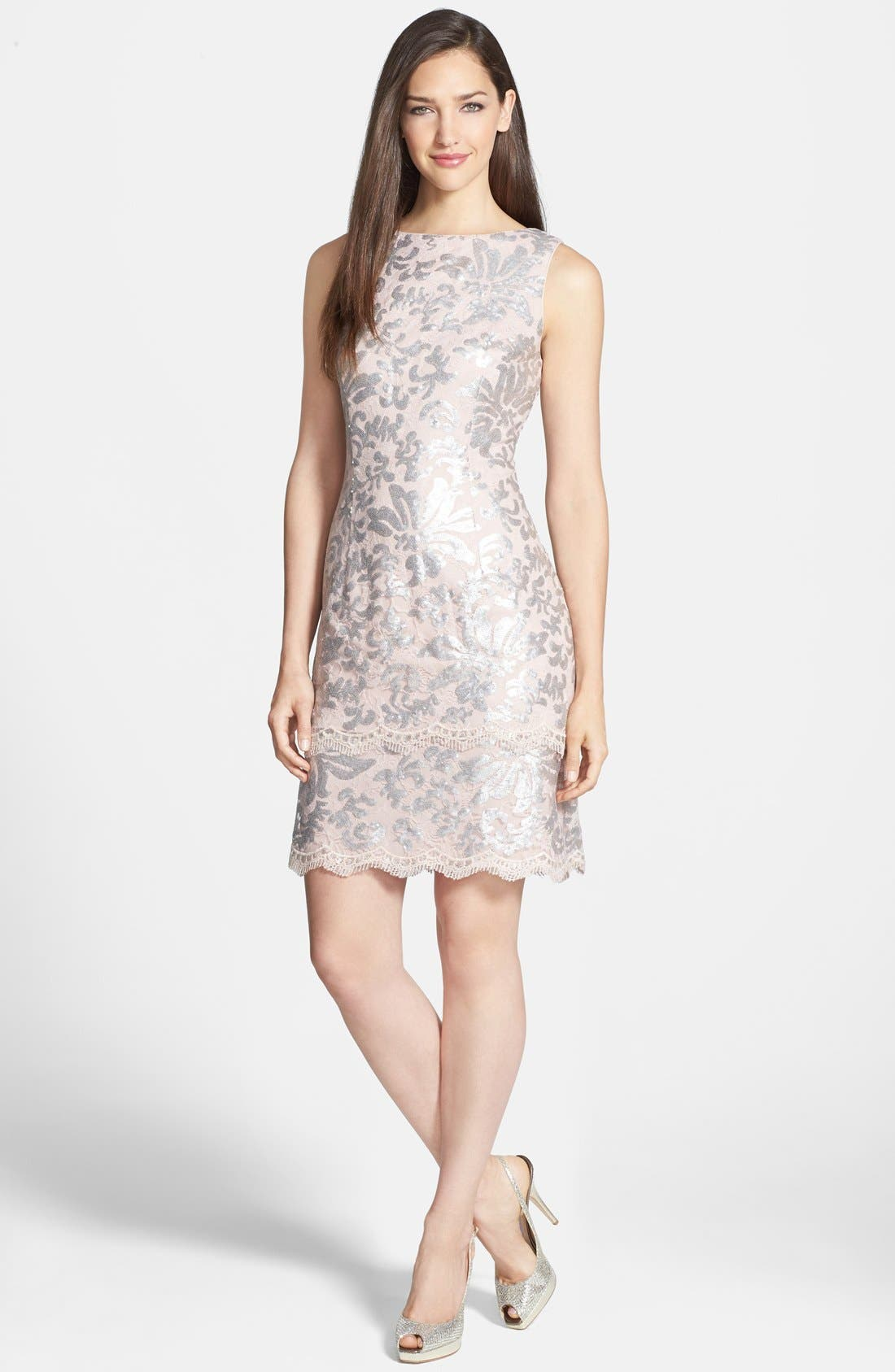 Alternate Image 3  - Alex Evenings Sequin Lace Dress & Bolero