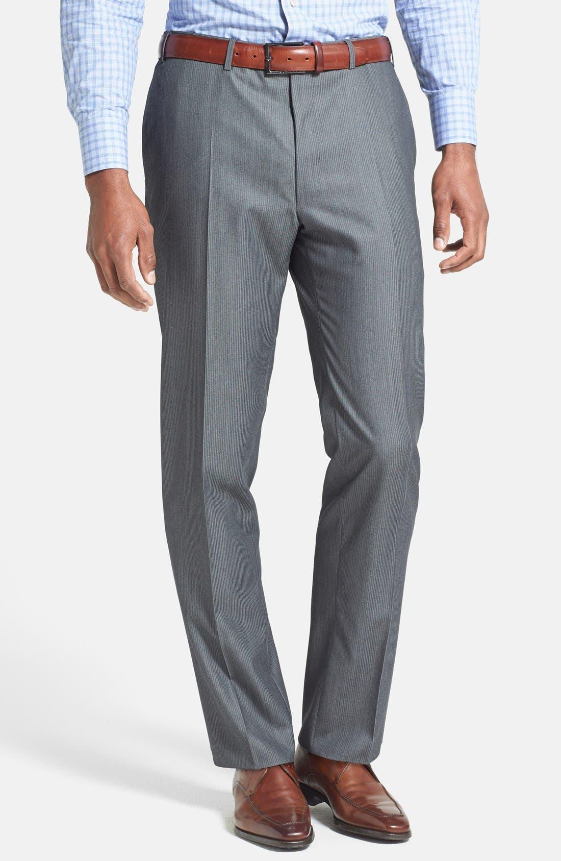 Alternate Image 4  - Canali Classic Fit Herringbone Suit