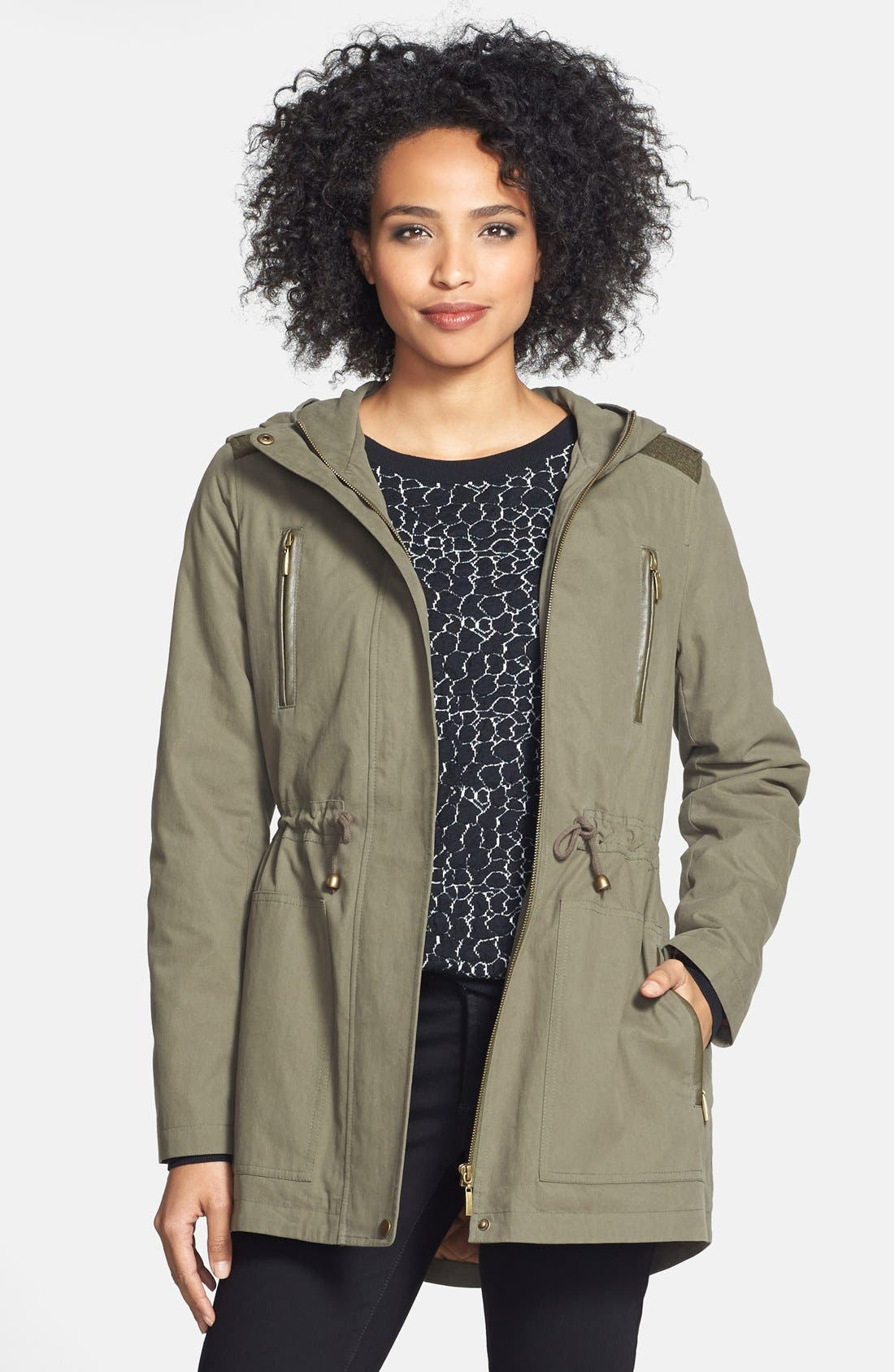 Main Image - Kristen Blake Hooded Cotton Anorak