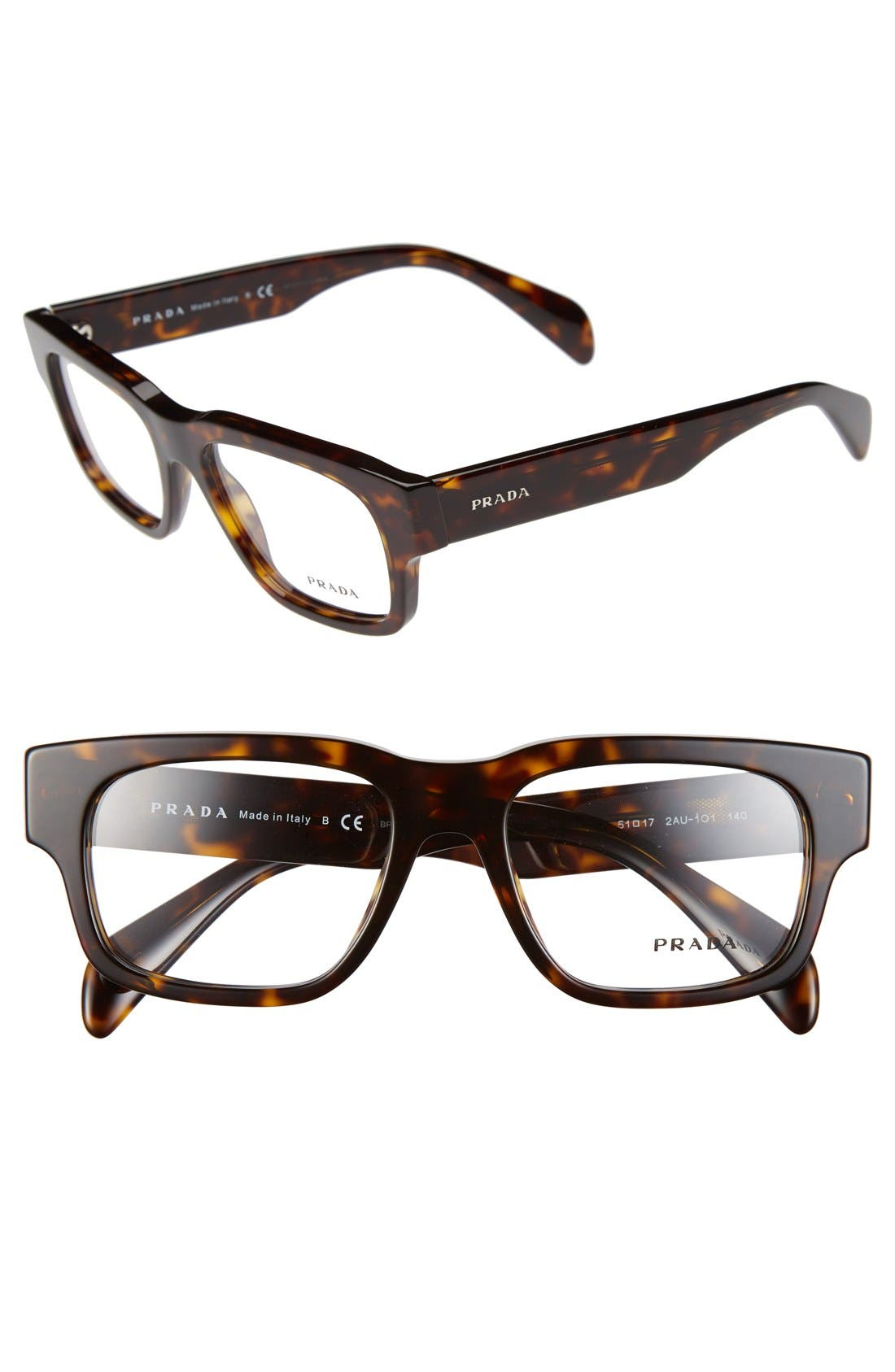 Alternate Image 1 Selected - Prada 53mm Optical Glasses (Online Only)