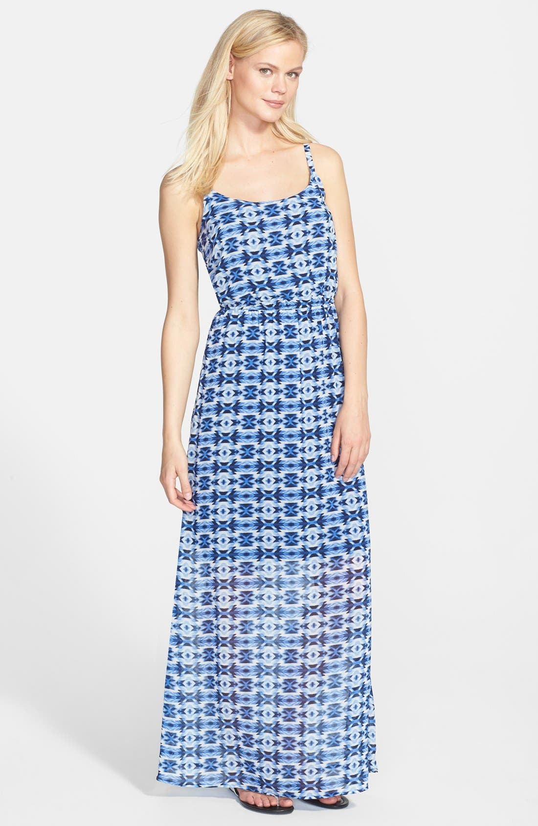 Alternate Image 1 Selected - Bobeau Print Elastic Waist Maxi Dress