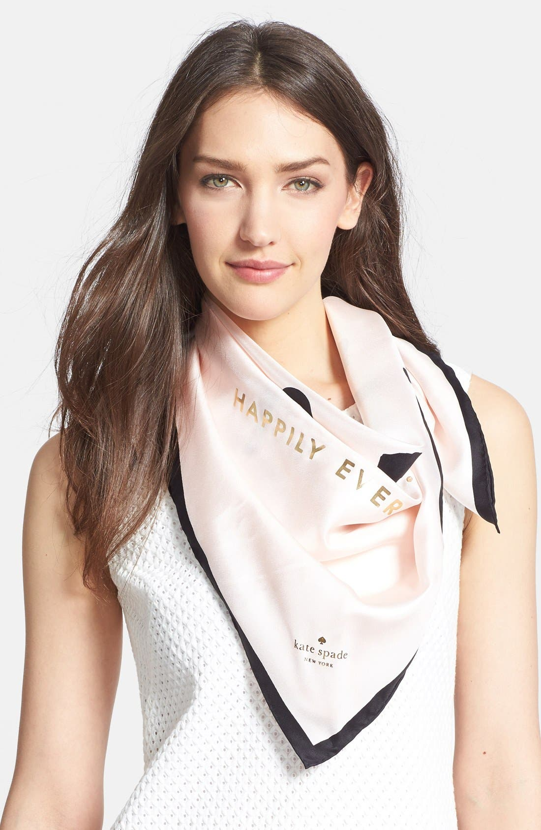 Main Image - kate spade new york 'just married' silk square scarf