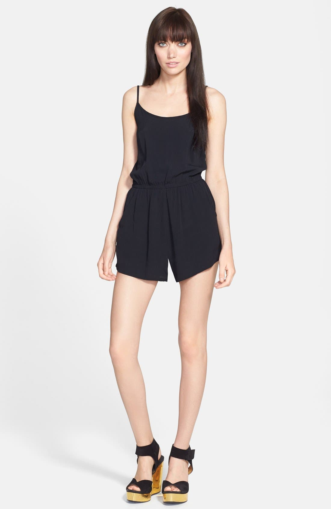 Alternate Image 1 Selected - MINKPINK 'See the World' Crepe Romper